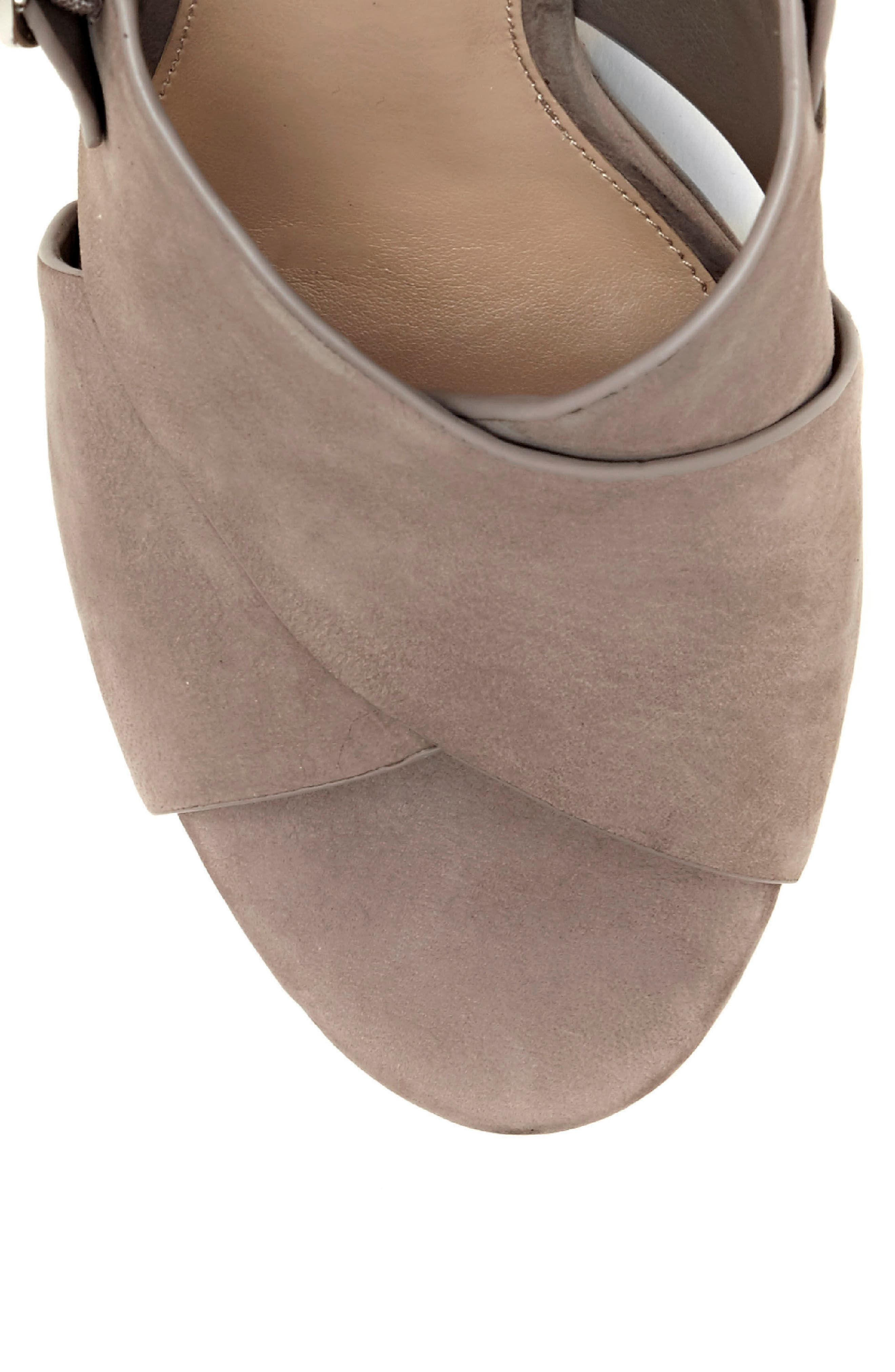 Iteena Wedge Sandal,                             Alternate thumbnail 8, color,                             Hippo Grey Leather