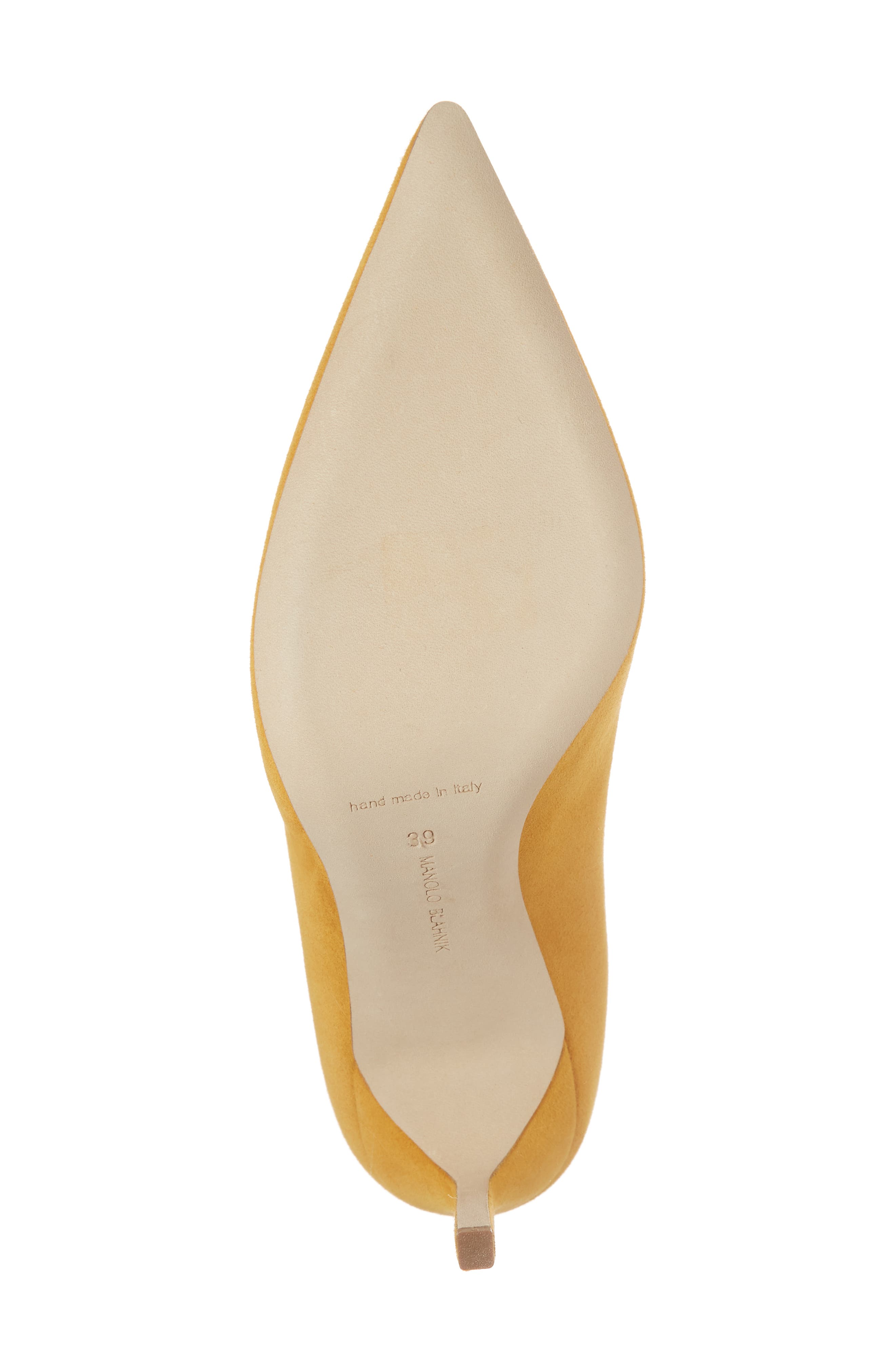 'BB' Pointy Toe Pump,                             Alternate thumbnail 6, color,                             Arbor Yellow