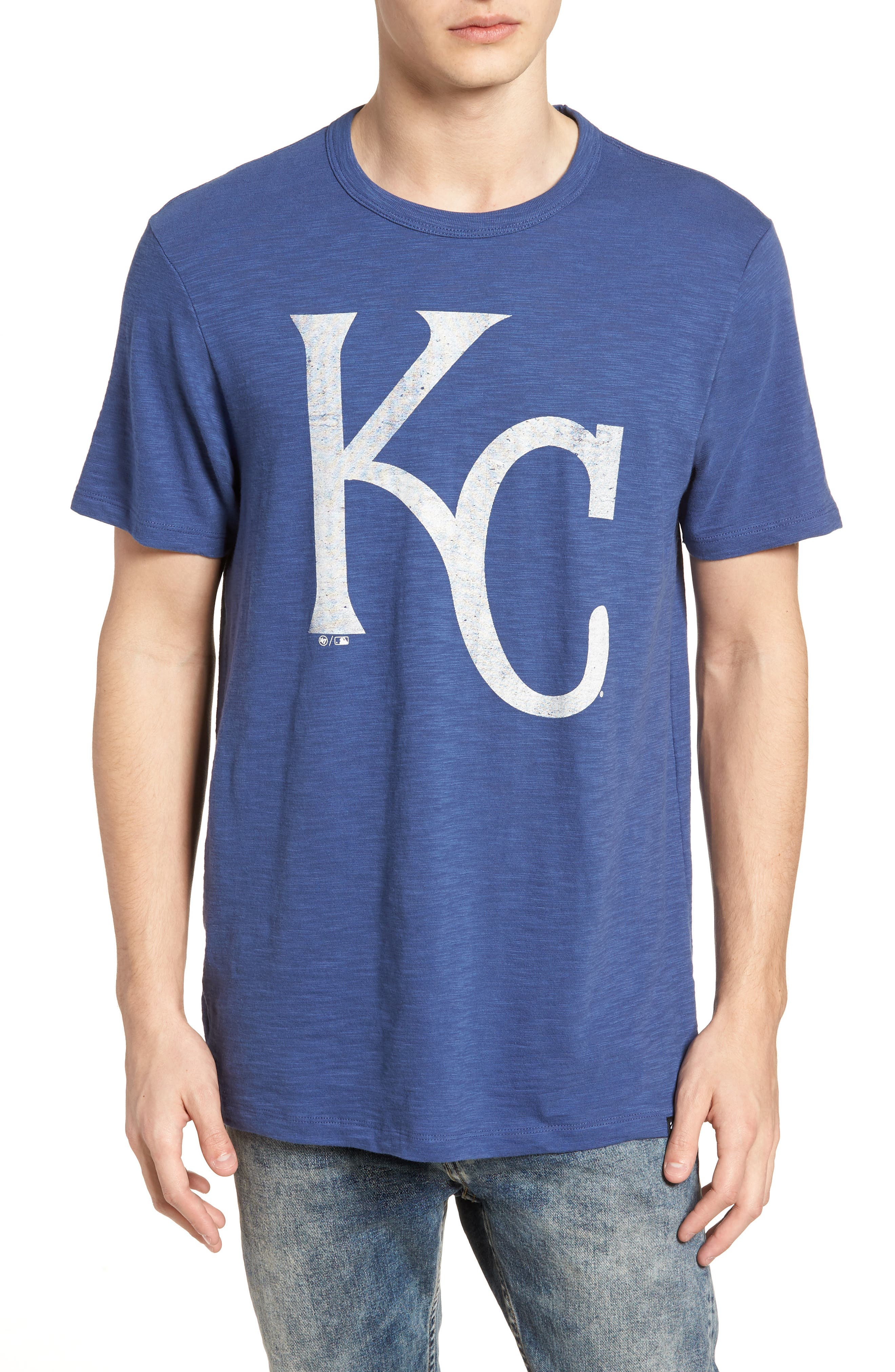 MLB Grit Scrum Kansas City Royals T-Shirt,                             Main thumbnail 1, color,                             Bleacher Blue