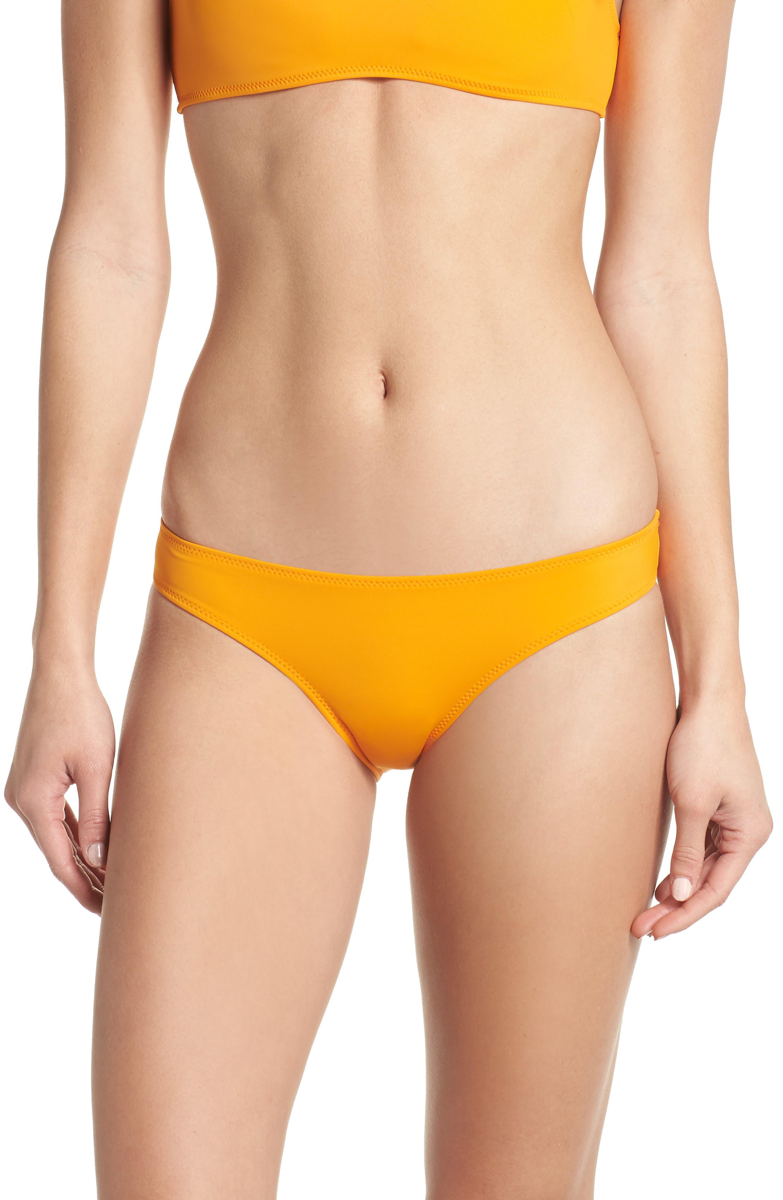 Elle Bikini Bottoms,                             Main thumbnail 1, color,                             Orange
