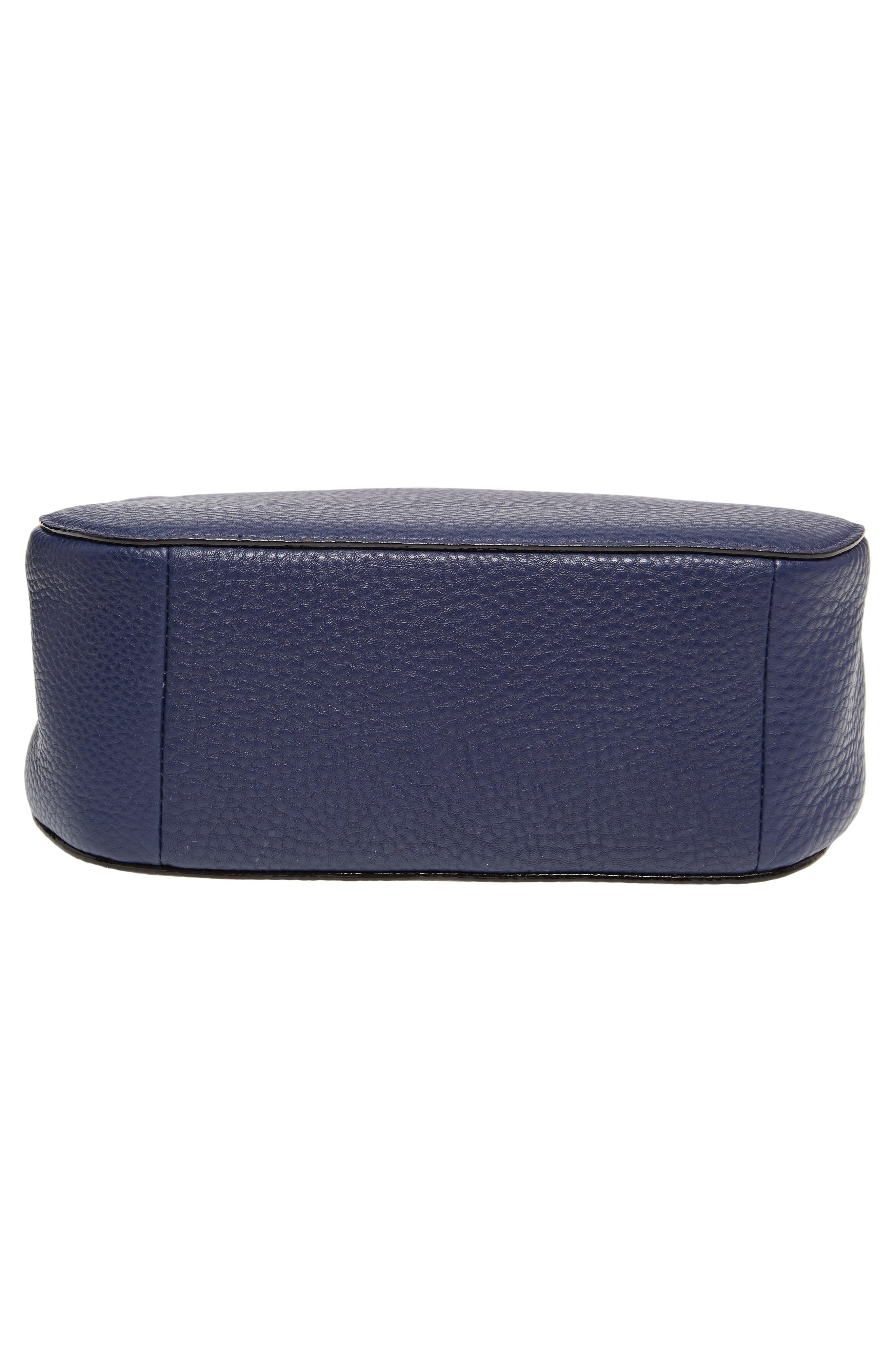 carlyle street - justina leather satchel,                             Alternate thumbnail 6, color,                             Blue Ridge