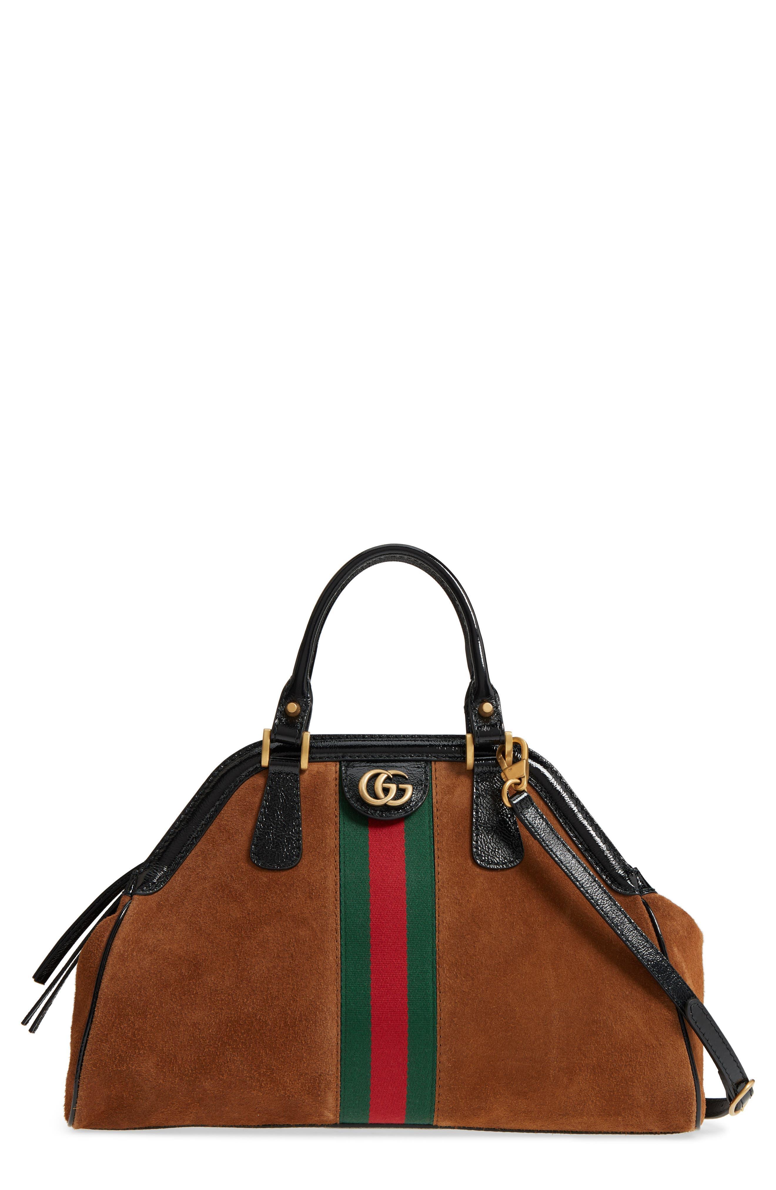 Gucci Medium RE(BELLE) Suede Satchel