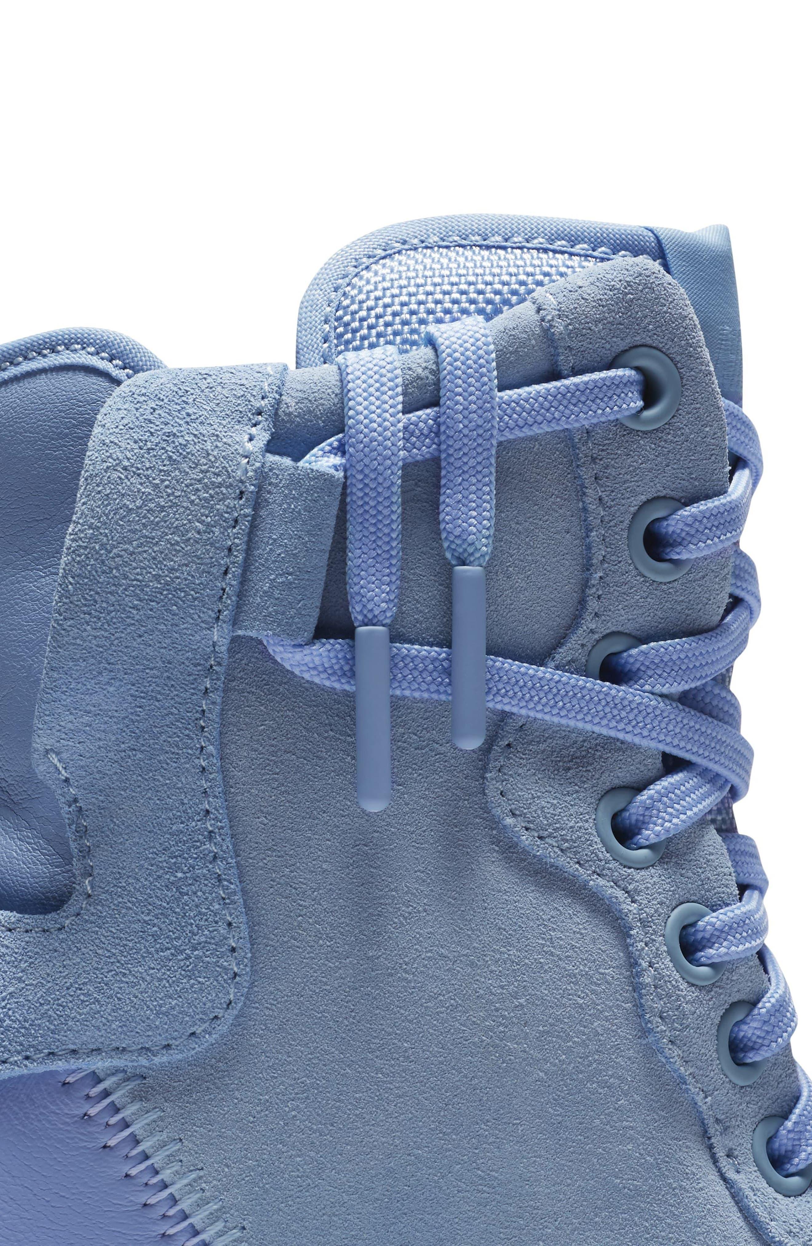 Air Force 1 Rebel XX High Top Sneaker,                             Alternate thumbnail 5, color,                             Light Blue