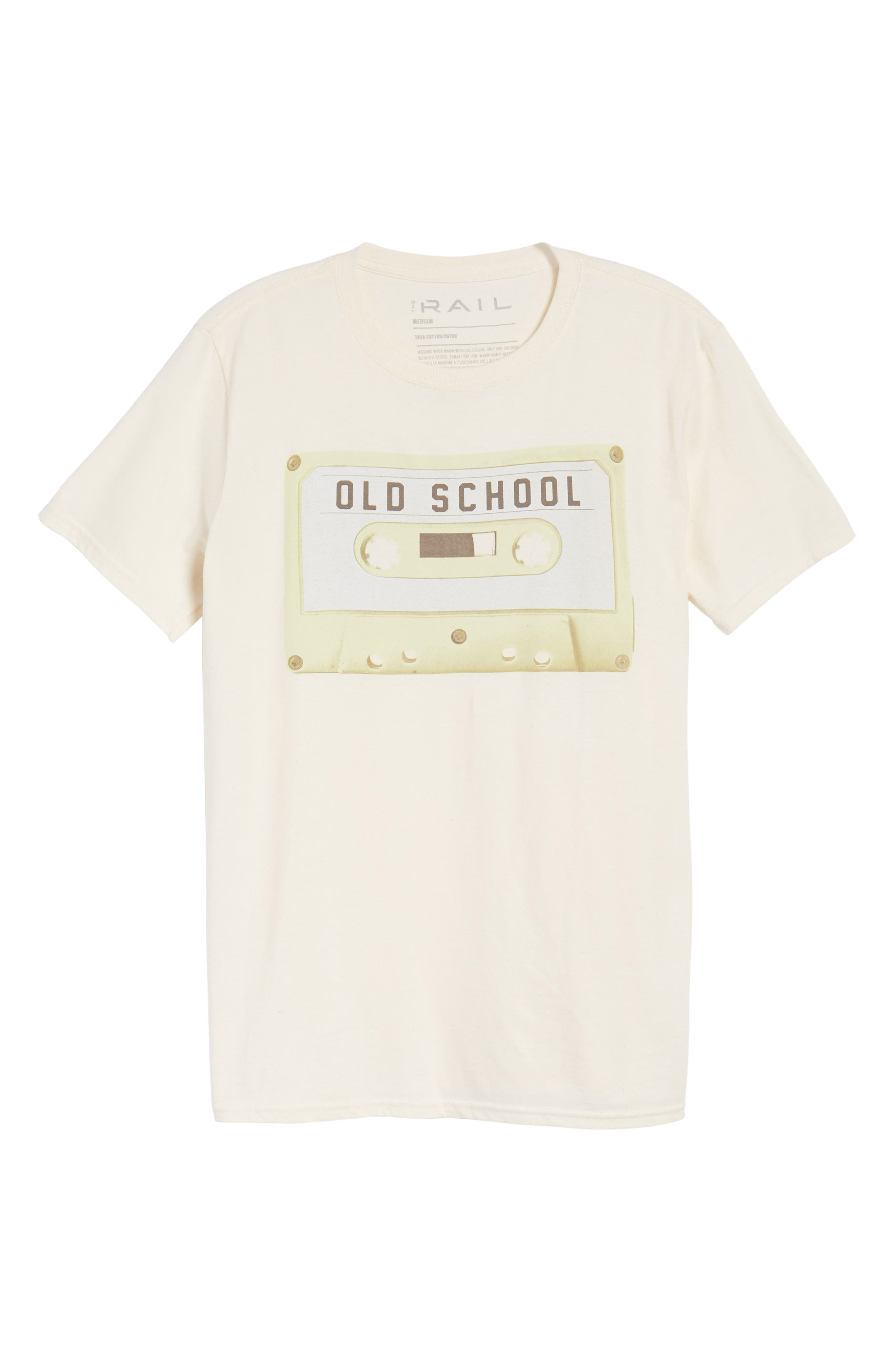 Old School T-Shirt,                             Alternate thumbnail 6, color,                             Ivory Old School