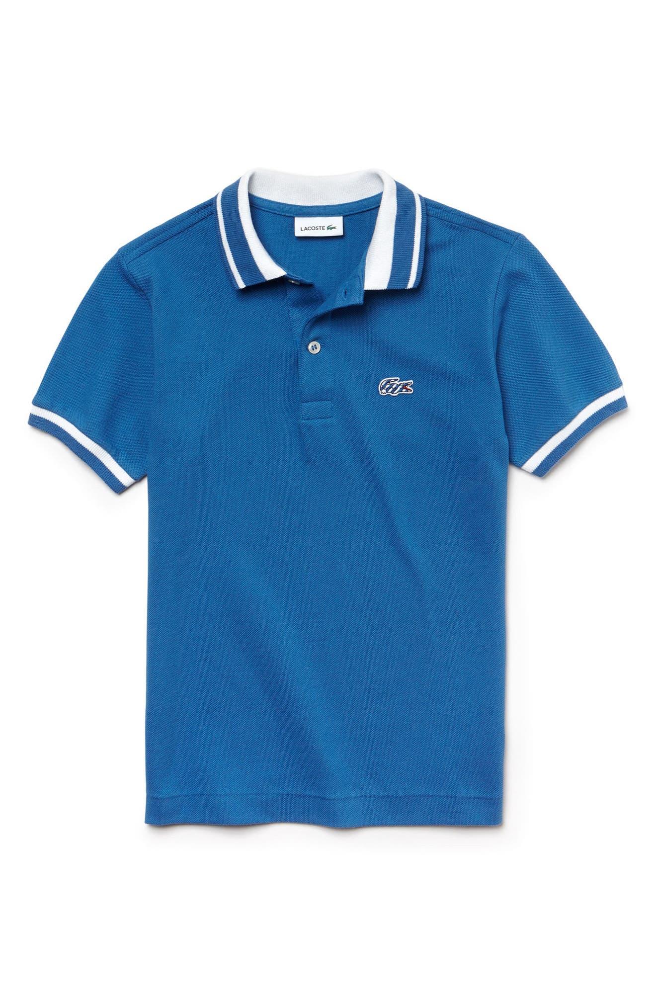 Piqué Polo,                         Main,                         color, Elysee Blue/ White