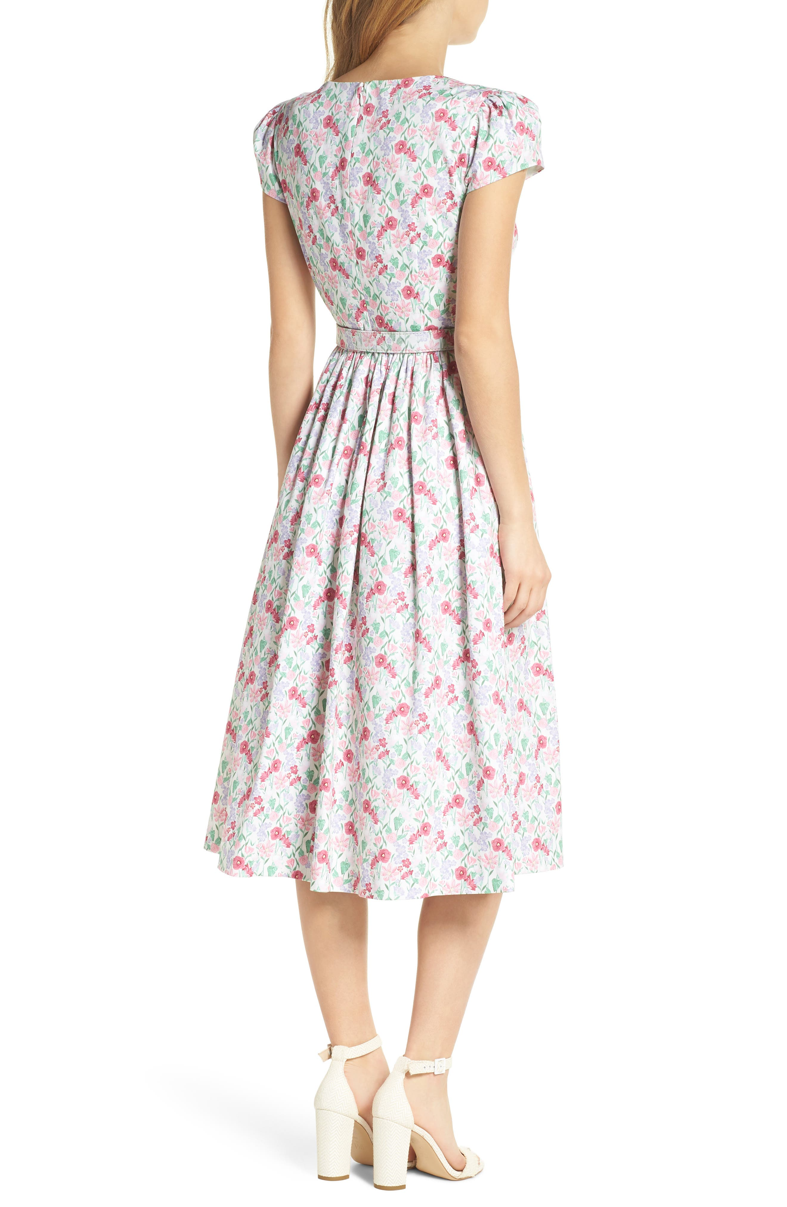 Alternate Image 3  - Gal Meets Glam Collection Packed Bouquet Print Cotton Dress