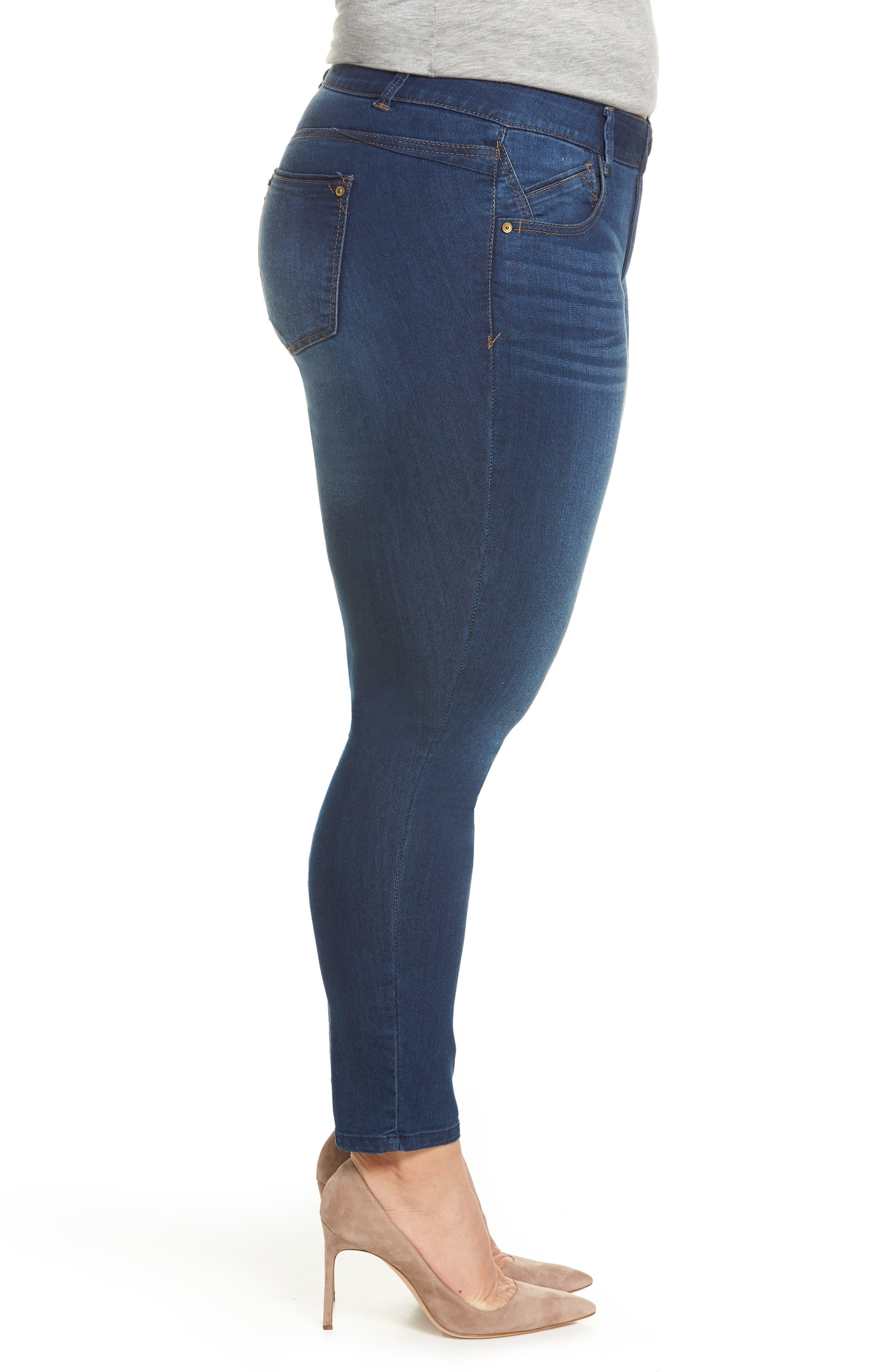 Ab-solution Ankle Skimmer Jeans,                             Alternate thumbnail 3, color,                             Blue