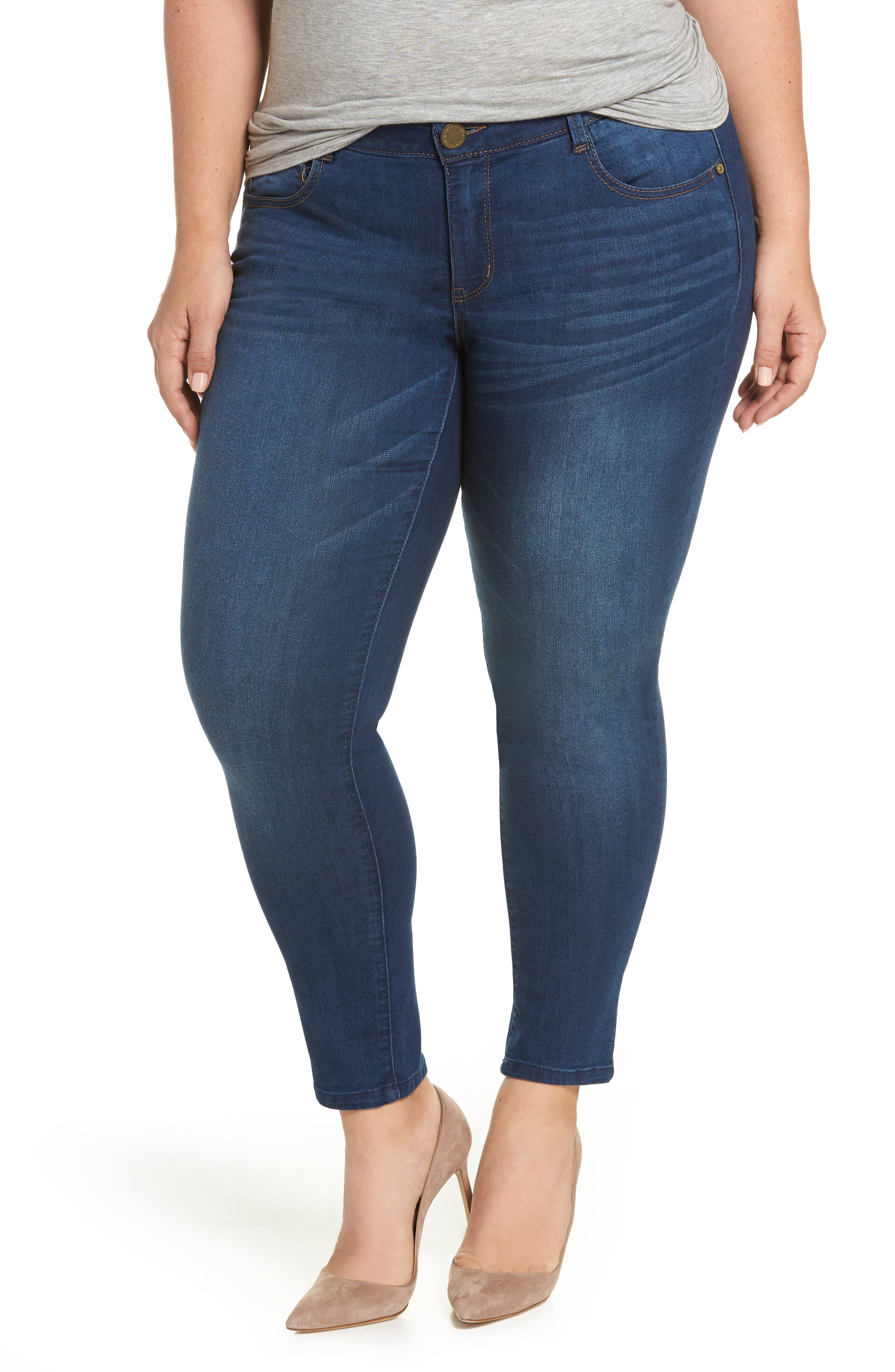 Ab-solution Ankle Skimmer Jeans,                         Main,                         color, Blue