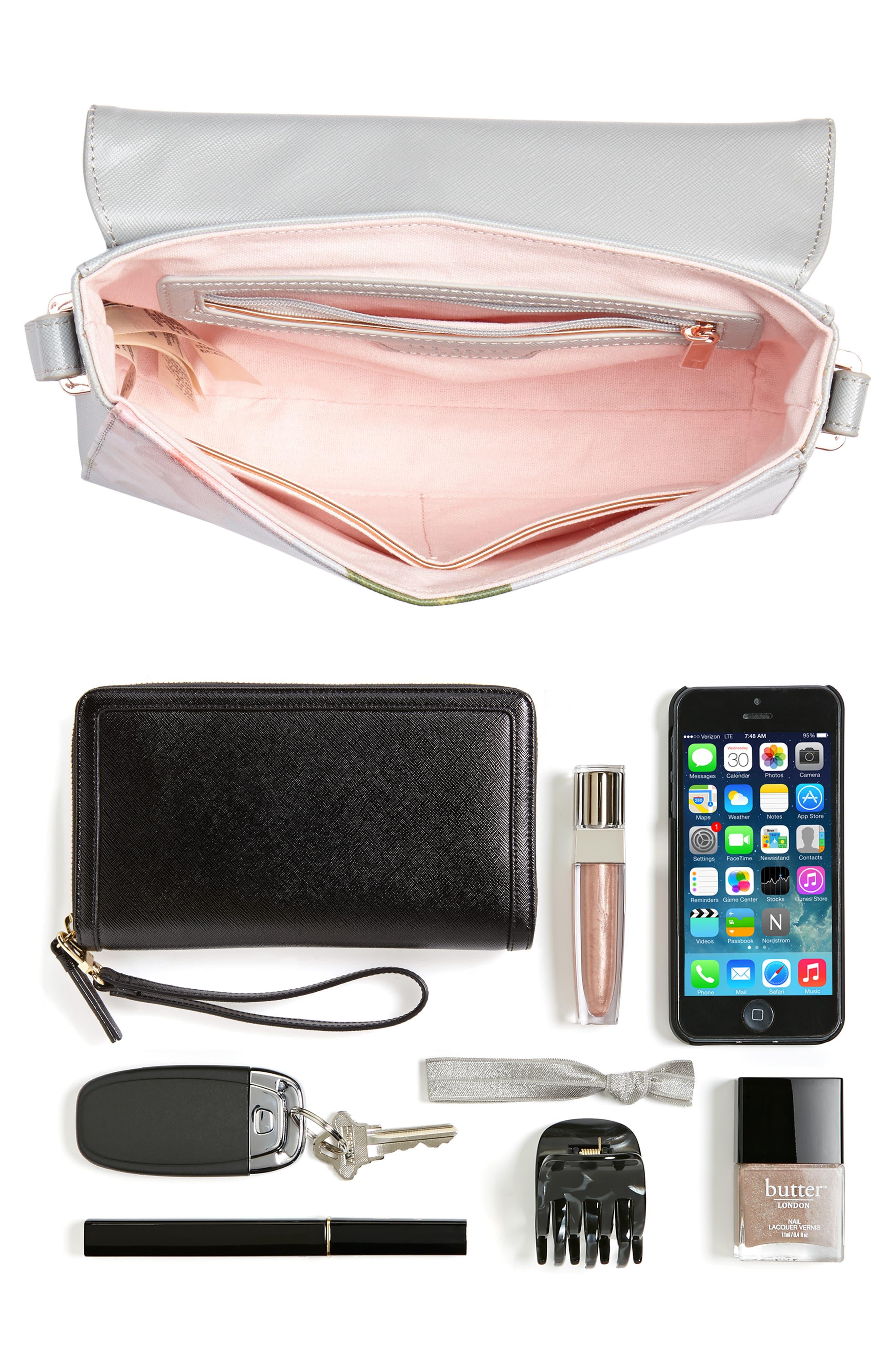Prim Chatsworth Bloom Faux Leather Crossbody Bag,                             Alternate thumbnail 7, color,
