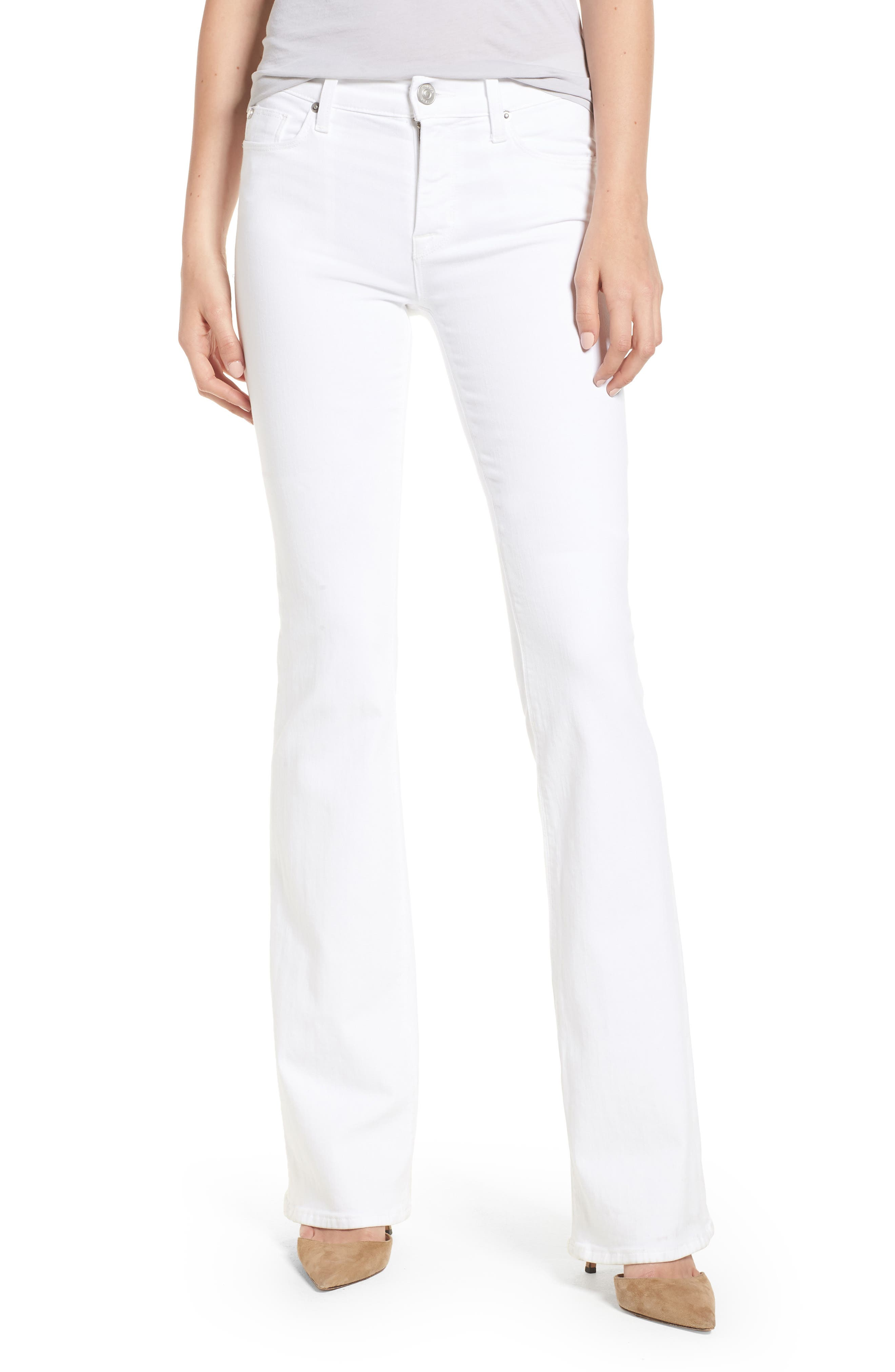 Drew Bootcut Jeans,                             Main thumbnail 1, color,                             Optical White