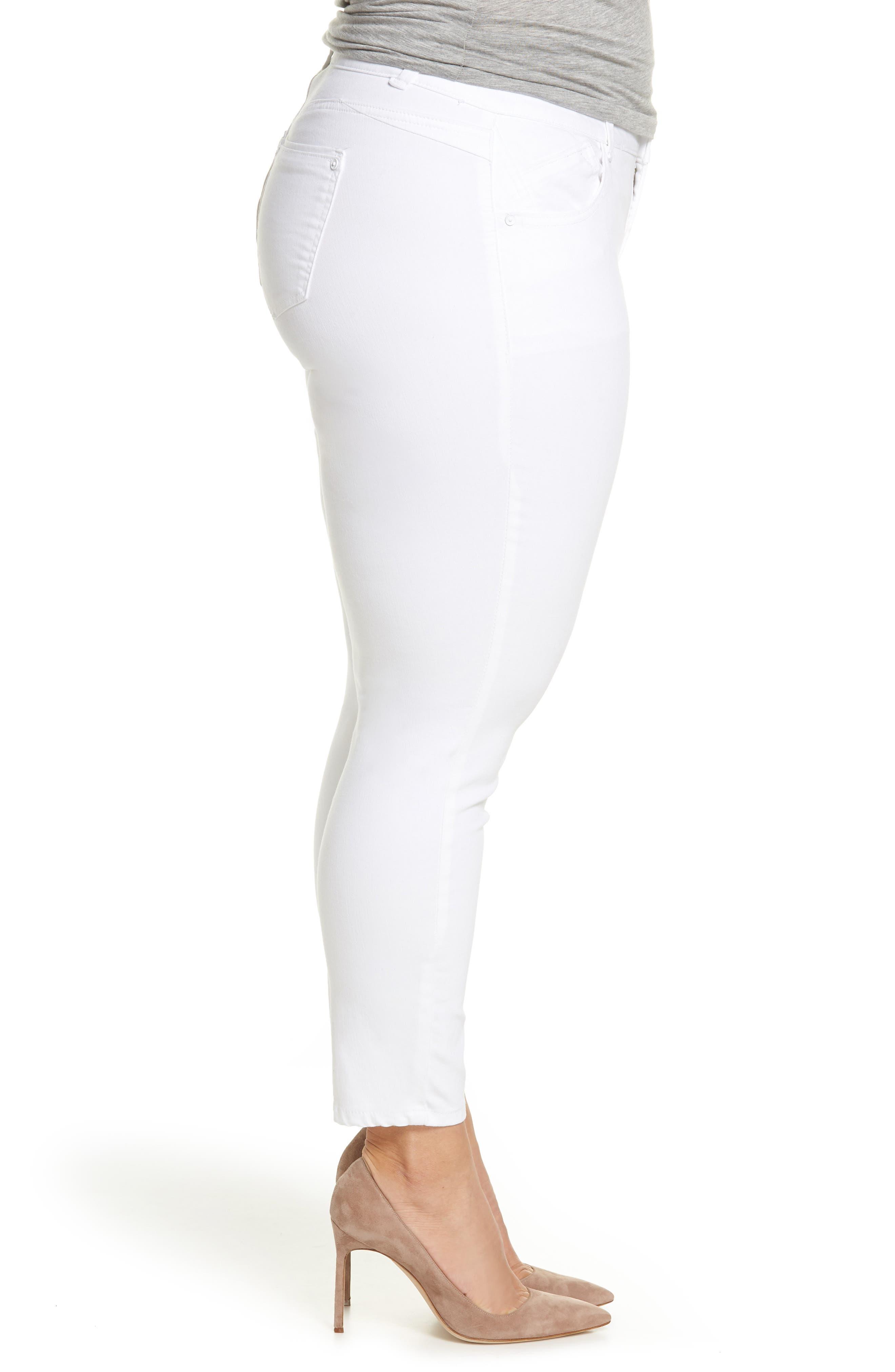 Ab-solution Ankle Skimmer Jeans,                             Alternate thumbnail 3, color,                             Optic White