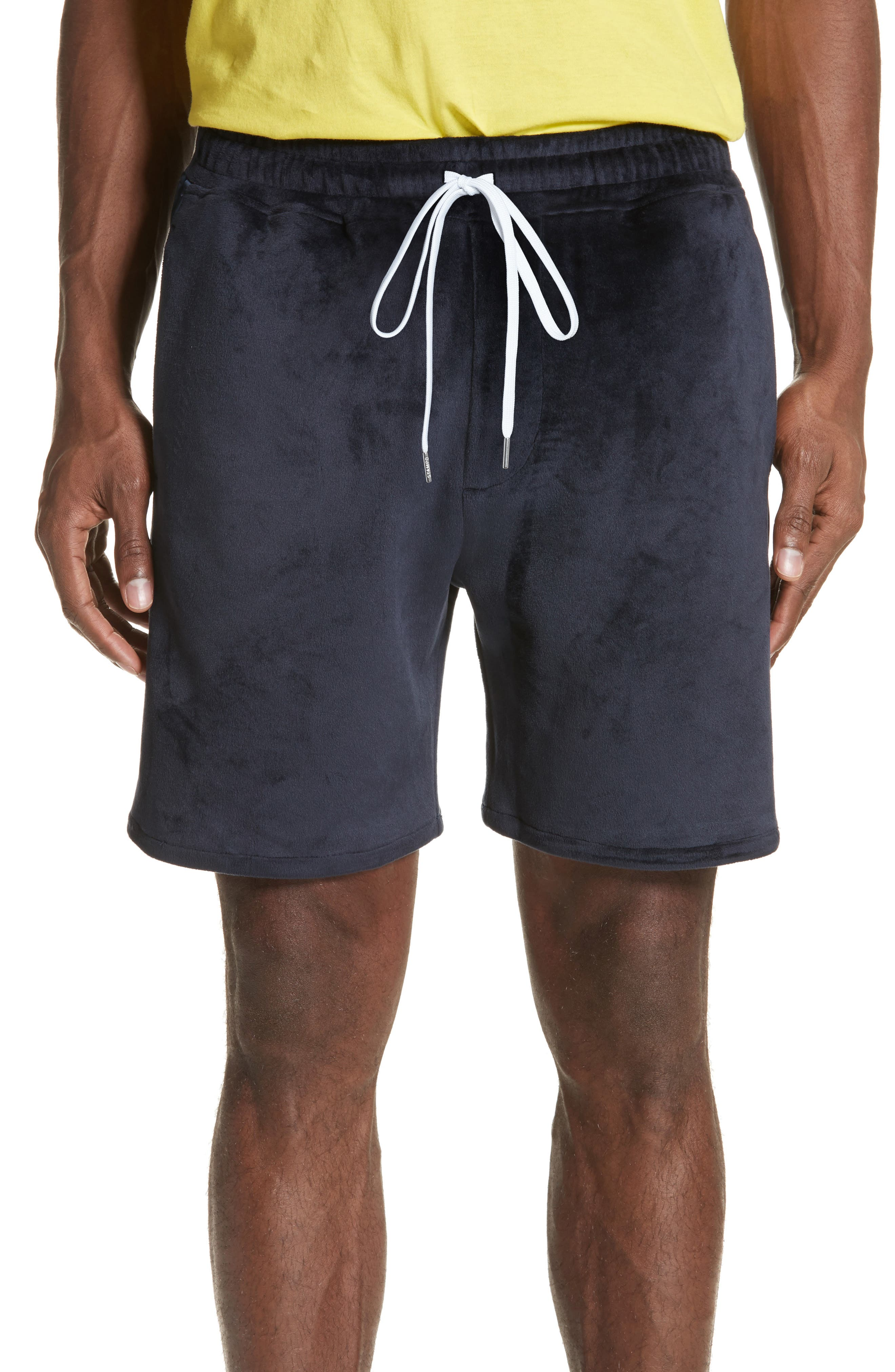 STAMPD Headland Velour Track Shorts
