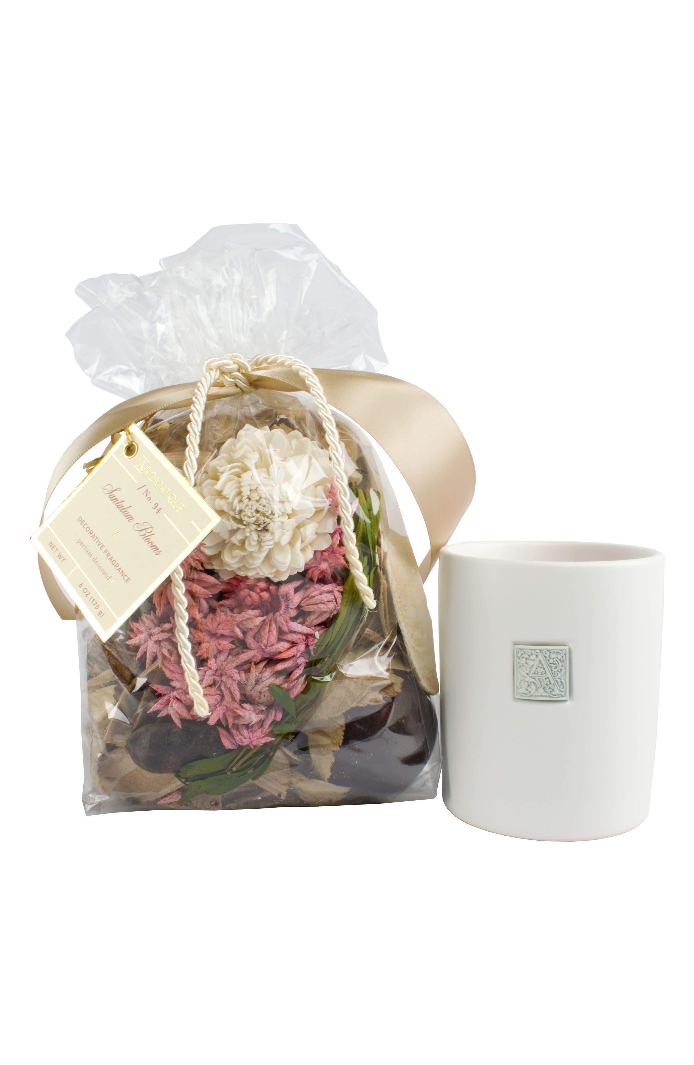 Fragrance Bag & Boxed Candle,                             Main thumbnail 1, color,                             Santalum Blooms