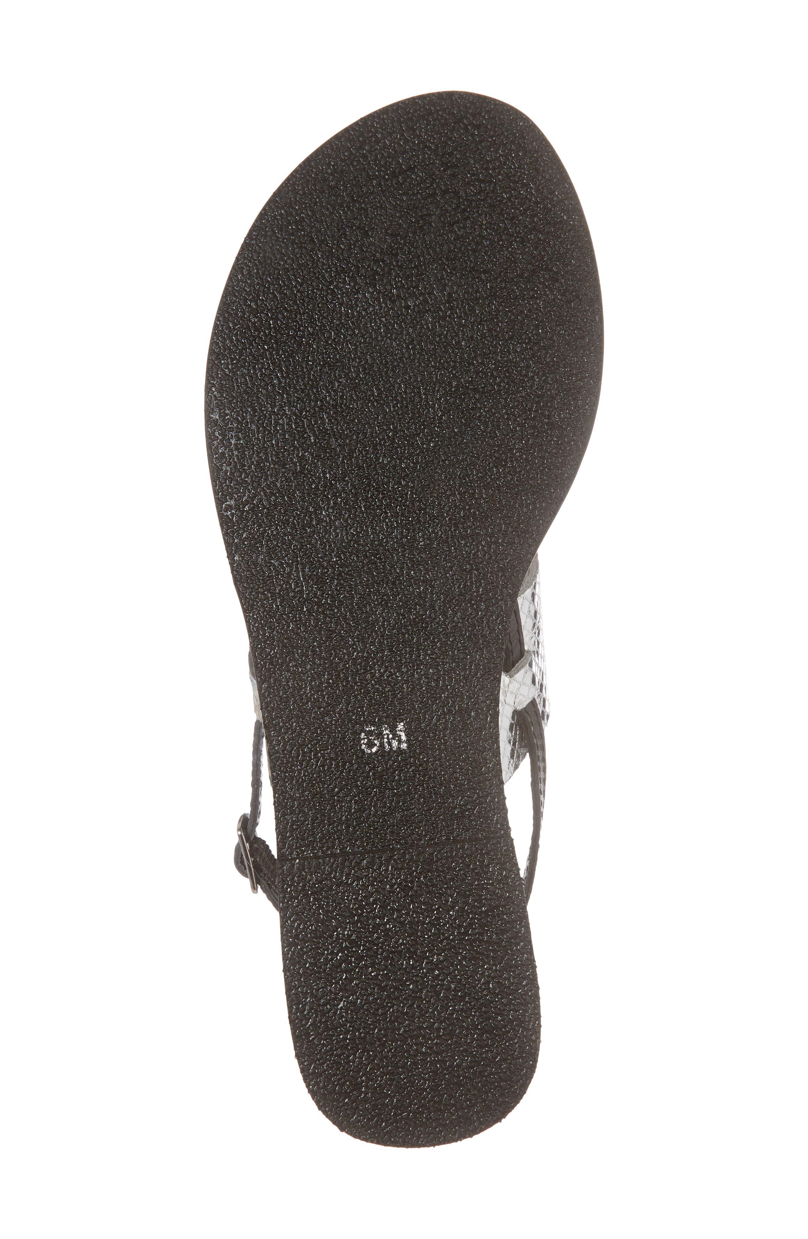 Valenti Sandal,                             Alternate thumbnail 6, color,                             Black Leather
