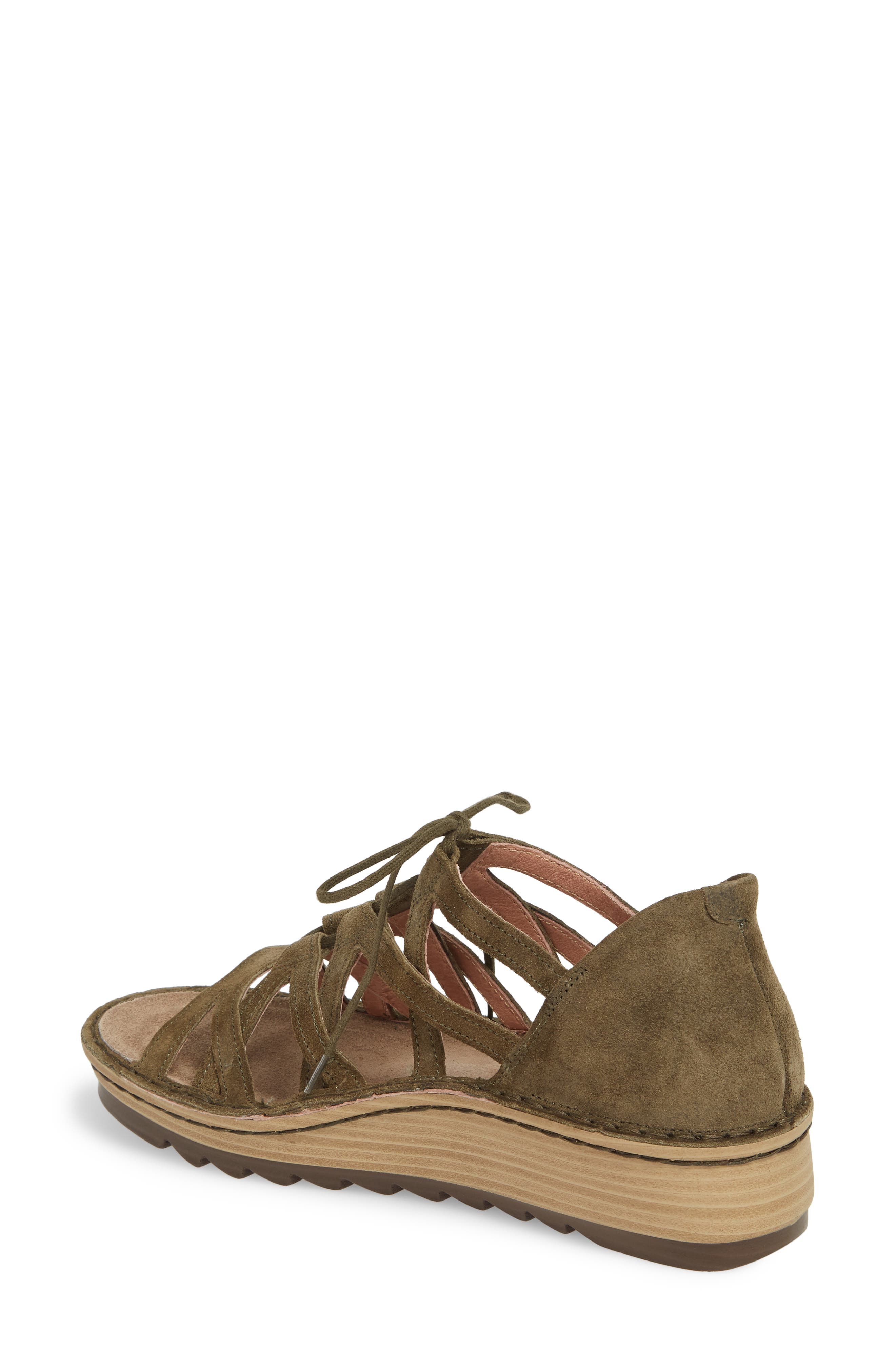 Yarrow Sandal,                             Alternate thumbnail 2, color,                             Oily Olive Suede