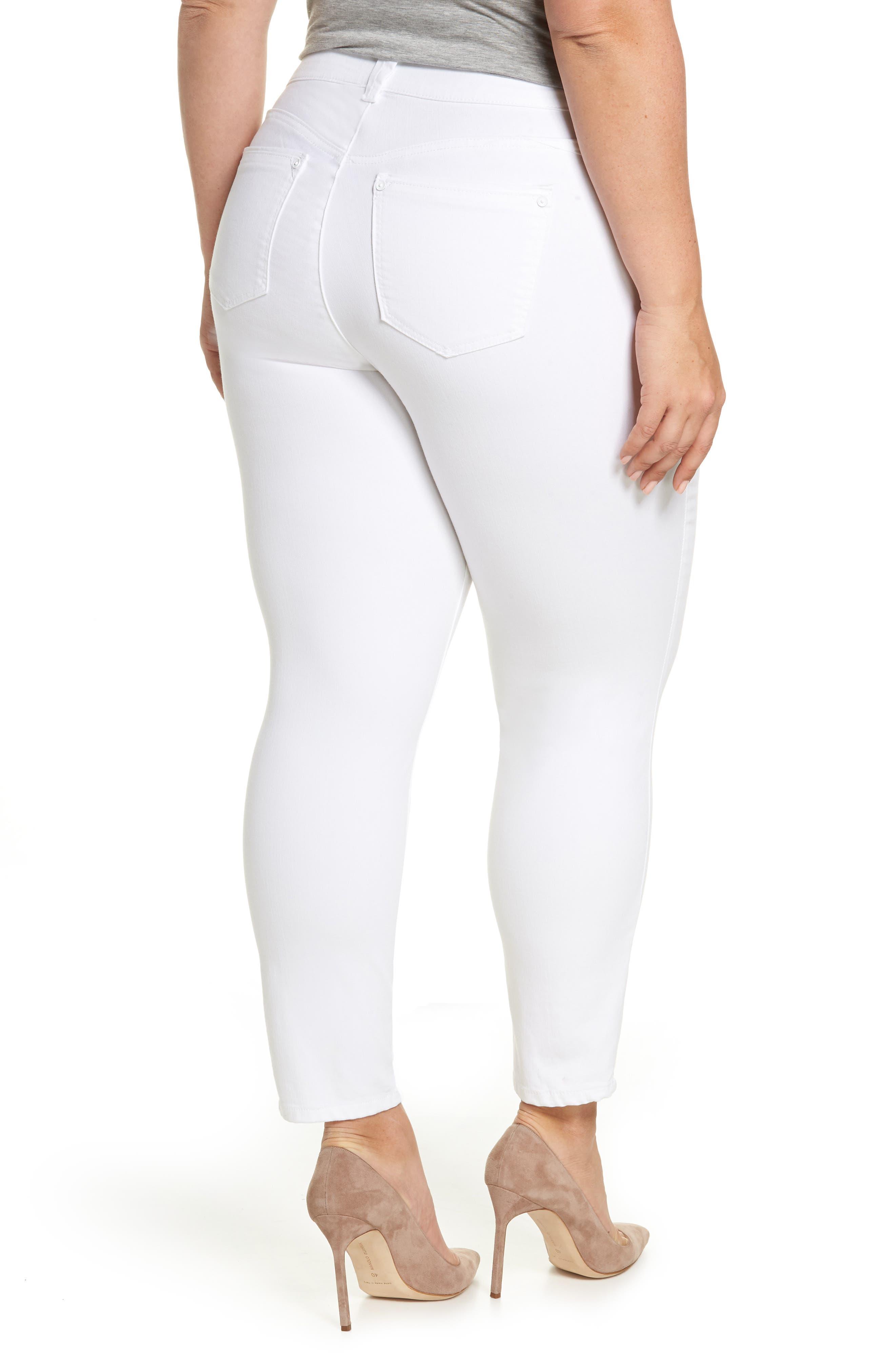Ab-solution Ankle Skimmer Jeans,                             Alternate thumbnail 2, color,                             Optic White