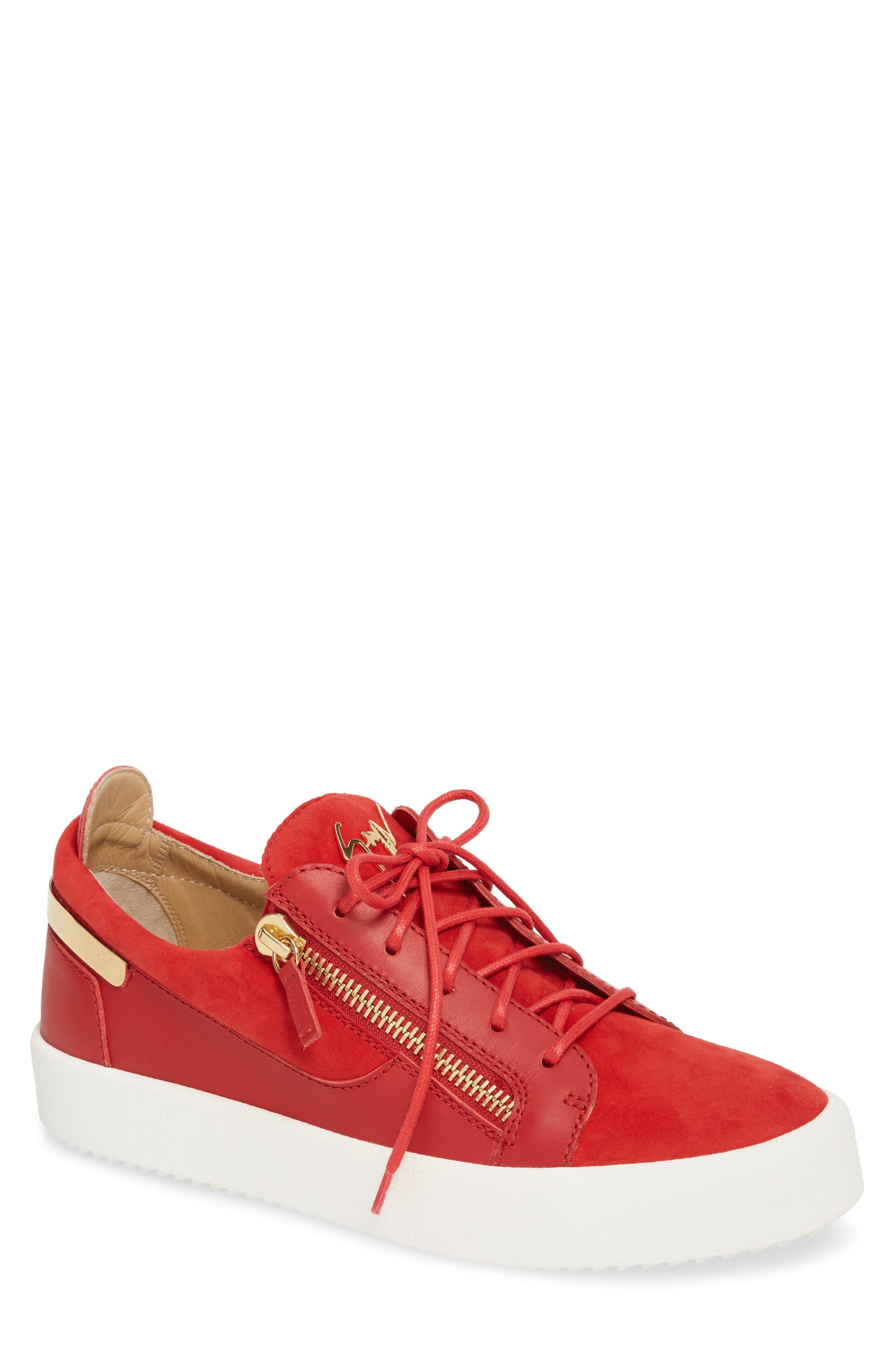 Zip Low Top Sneaker,                         Main,                         color, Fiamma