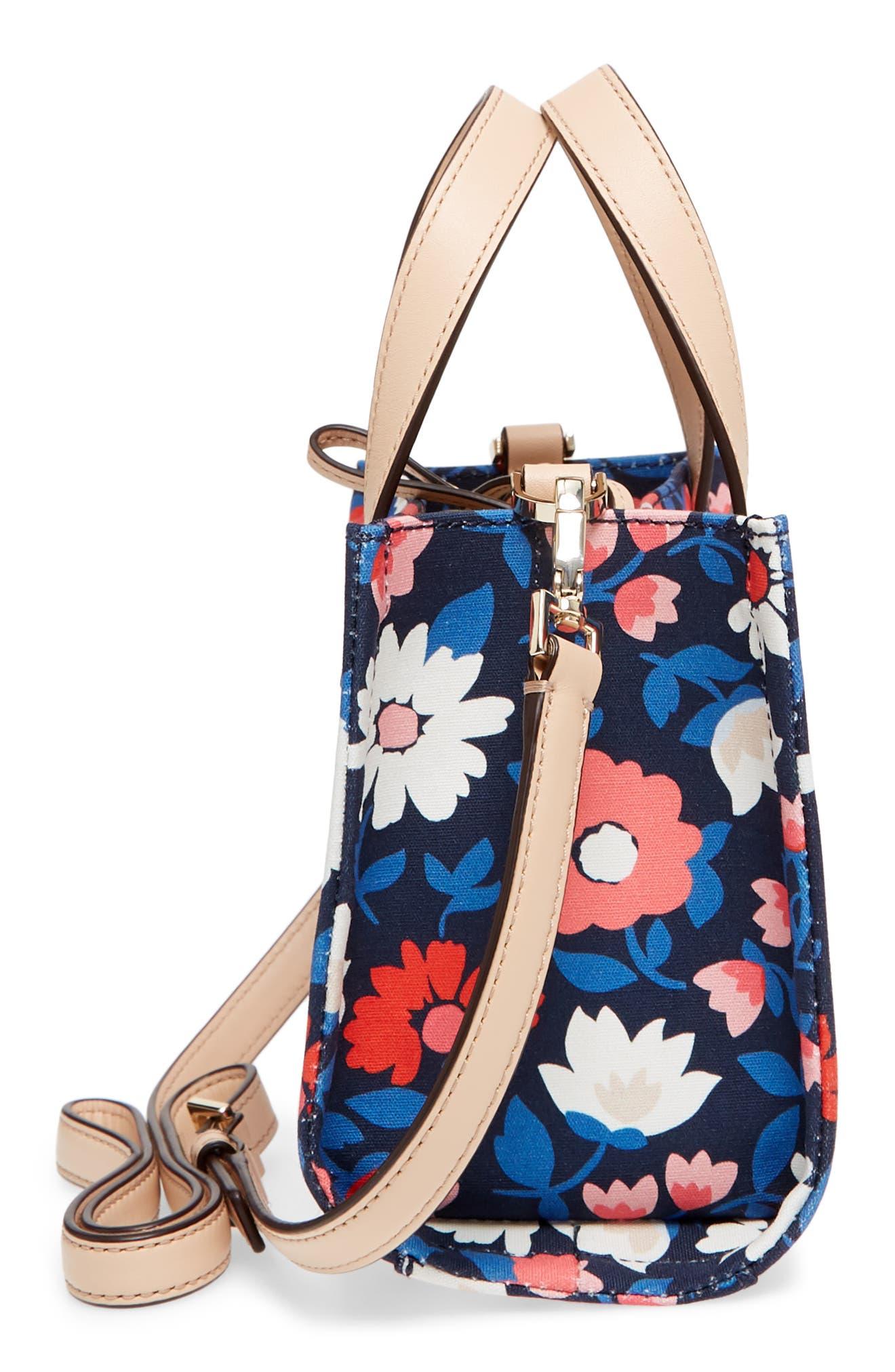 washington square - small sam canvas satchel,                             Alternate thumbnail 6, color,                             Rich Navy Multi