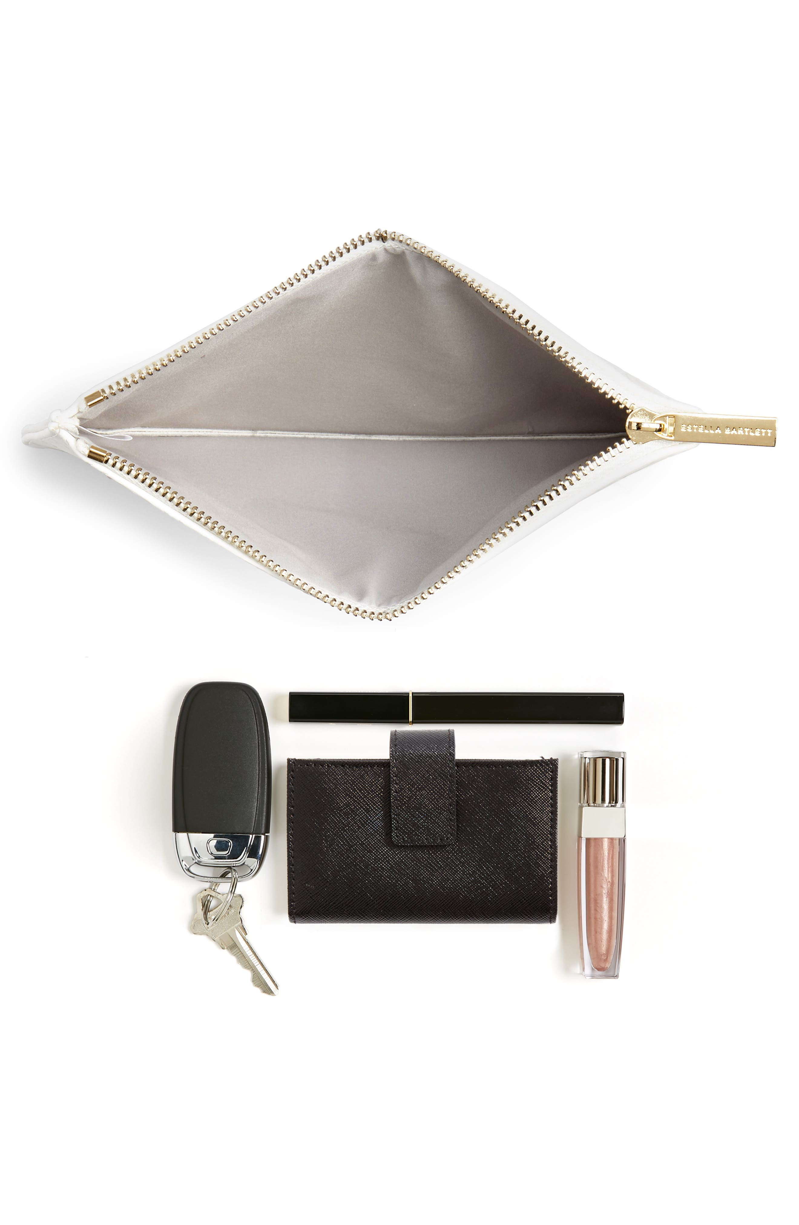 Medium Embossed Faux Leather Pouch,                             Alternate thumbnail 7, color,