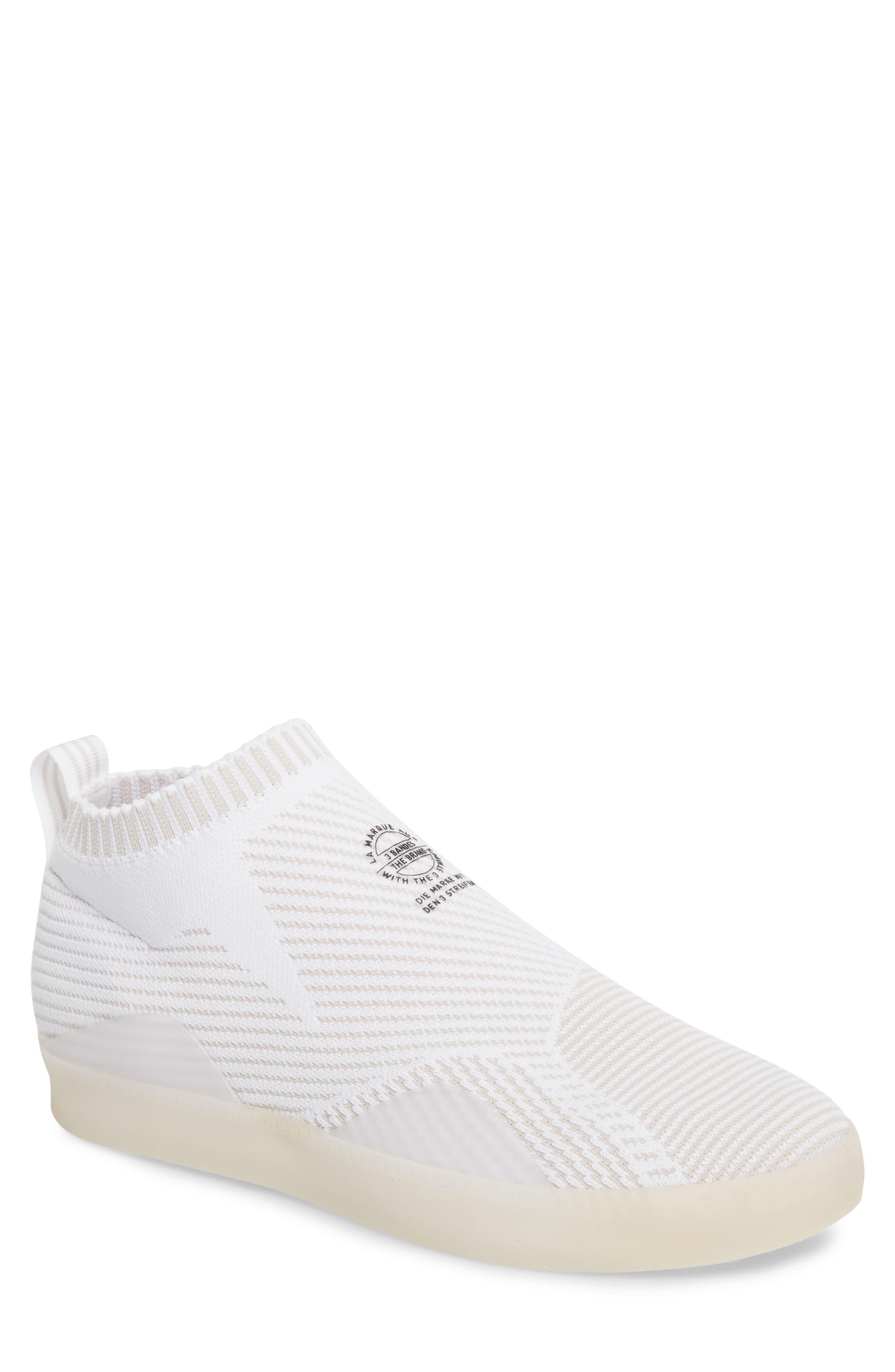 3ST.002 Primeknit Skateboarding Shoe,                         Main,                         color, White / Grey/ Black