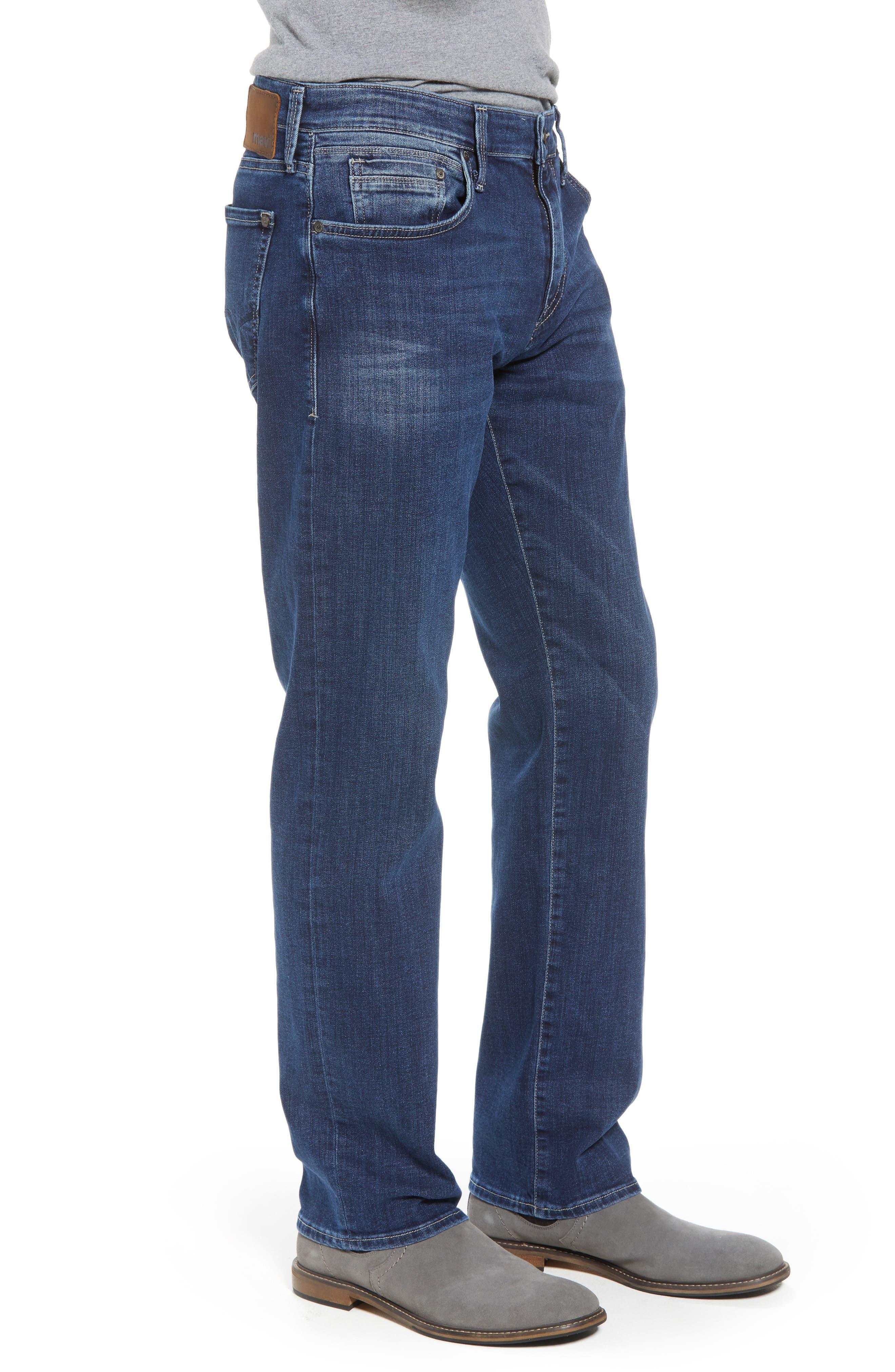 Zach Straight Leg Jeans,                             Alternate thumbnail 3, color,                             Dark Blue Williamsburg