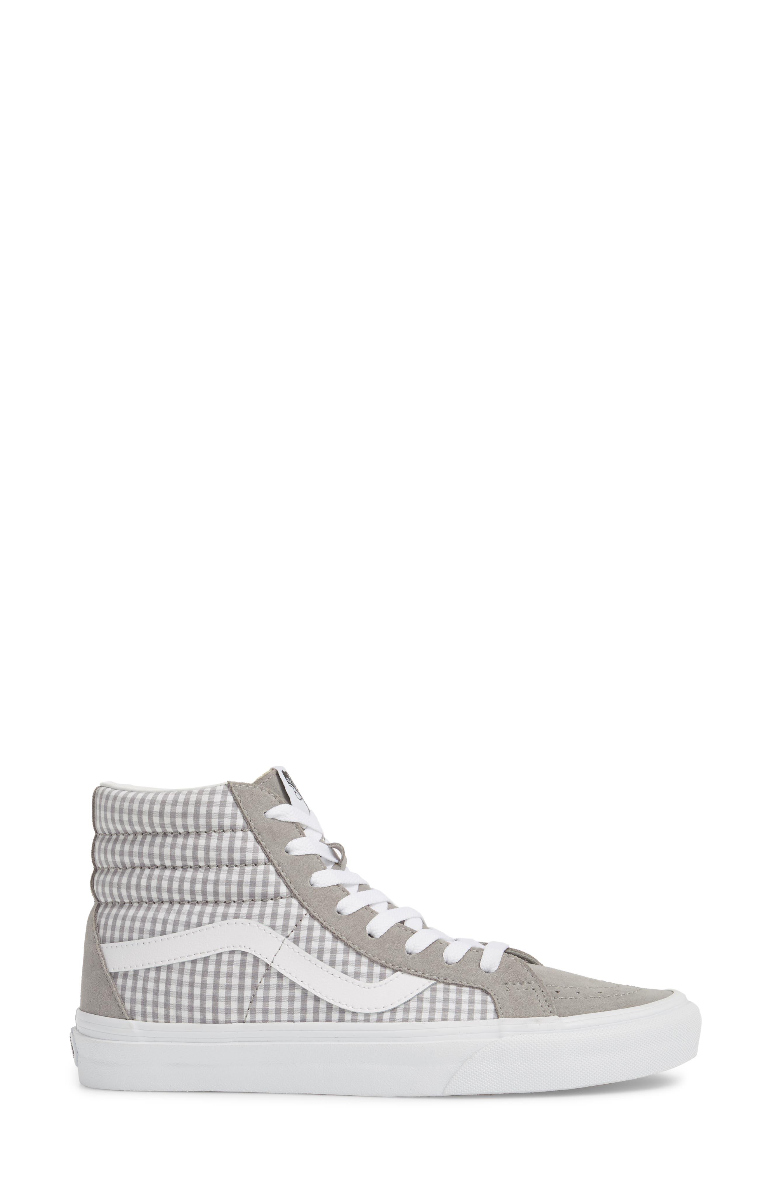 'Sk8-Hi Reissue' Sneaker,                             Alternate thumbnail 3, color,                             Titanium/ True White