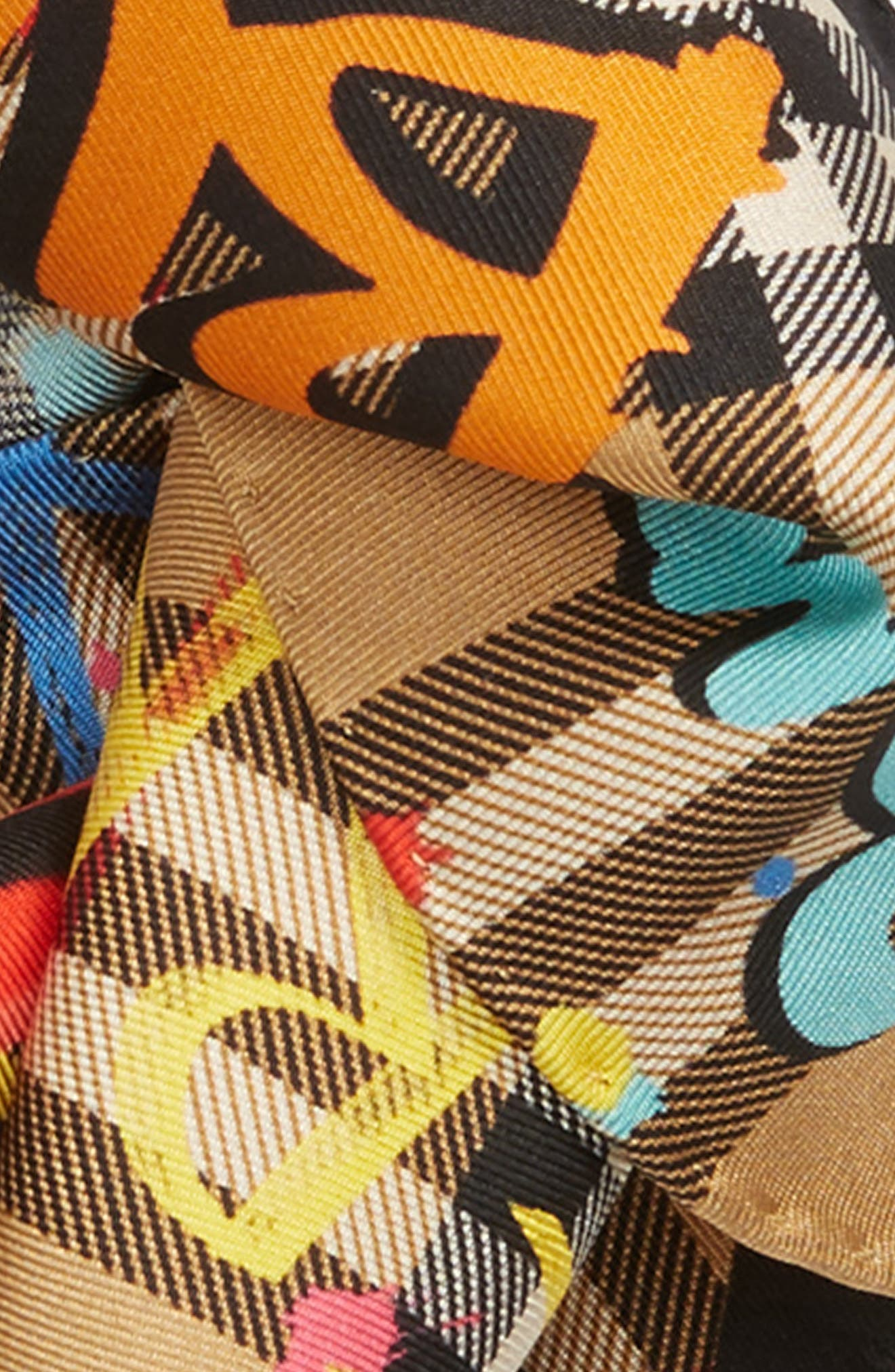Marker Pen Silk Scarf,                             Alternate thumbnail 3, color,                             Antique Yellow