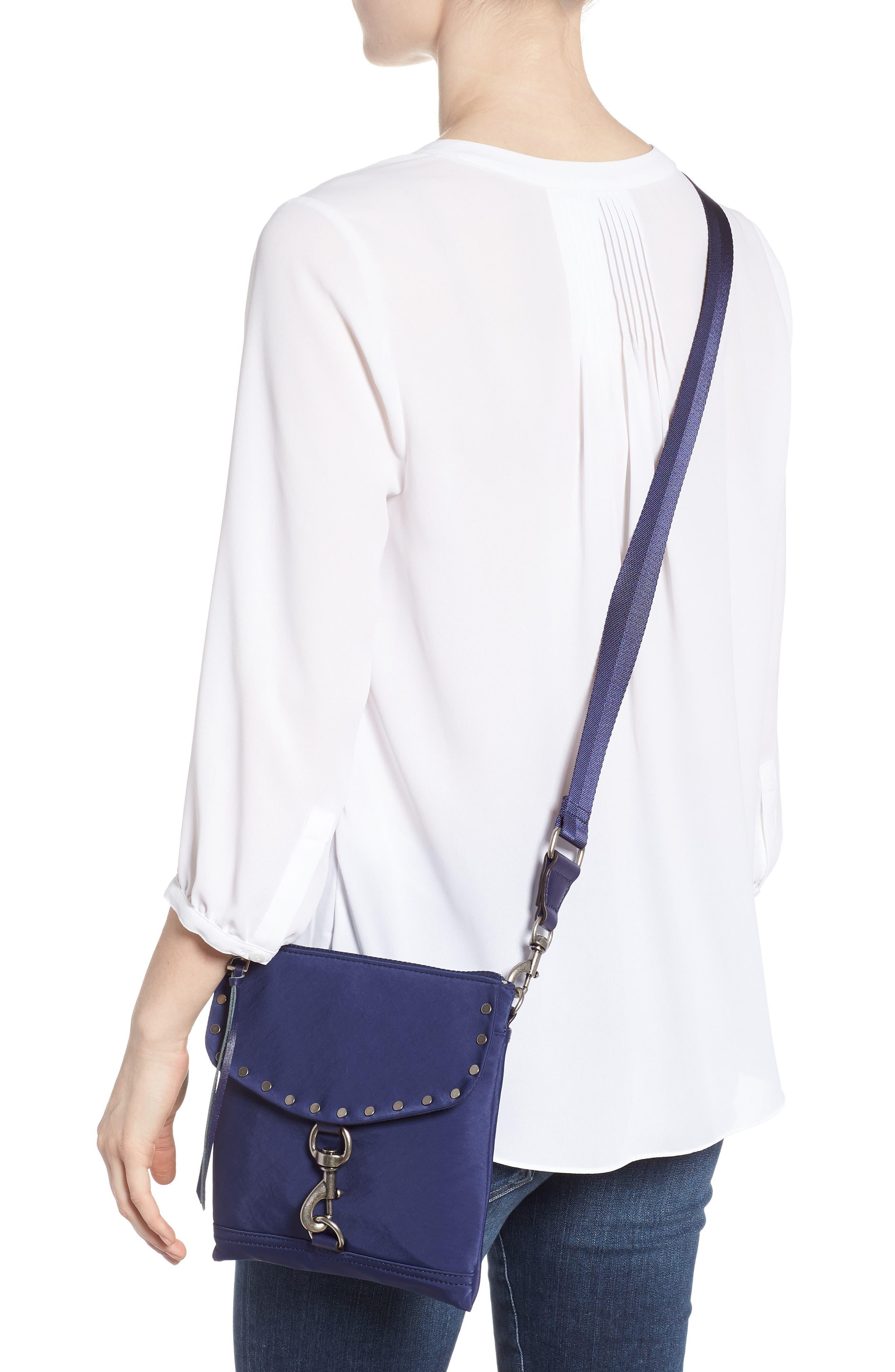 Nylon Flap Crossbody Bag,                             Alternate thumbnail 2, color,                             True Navy