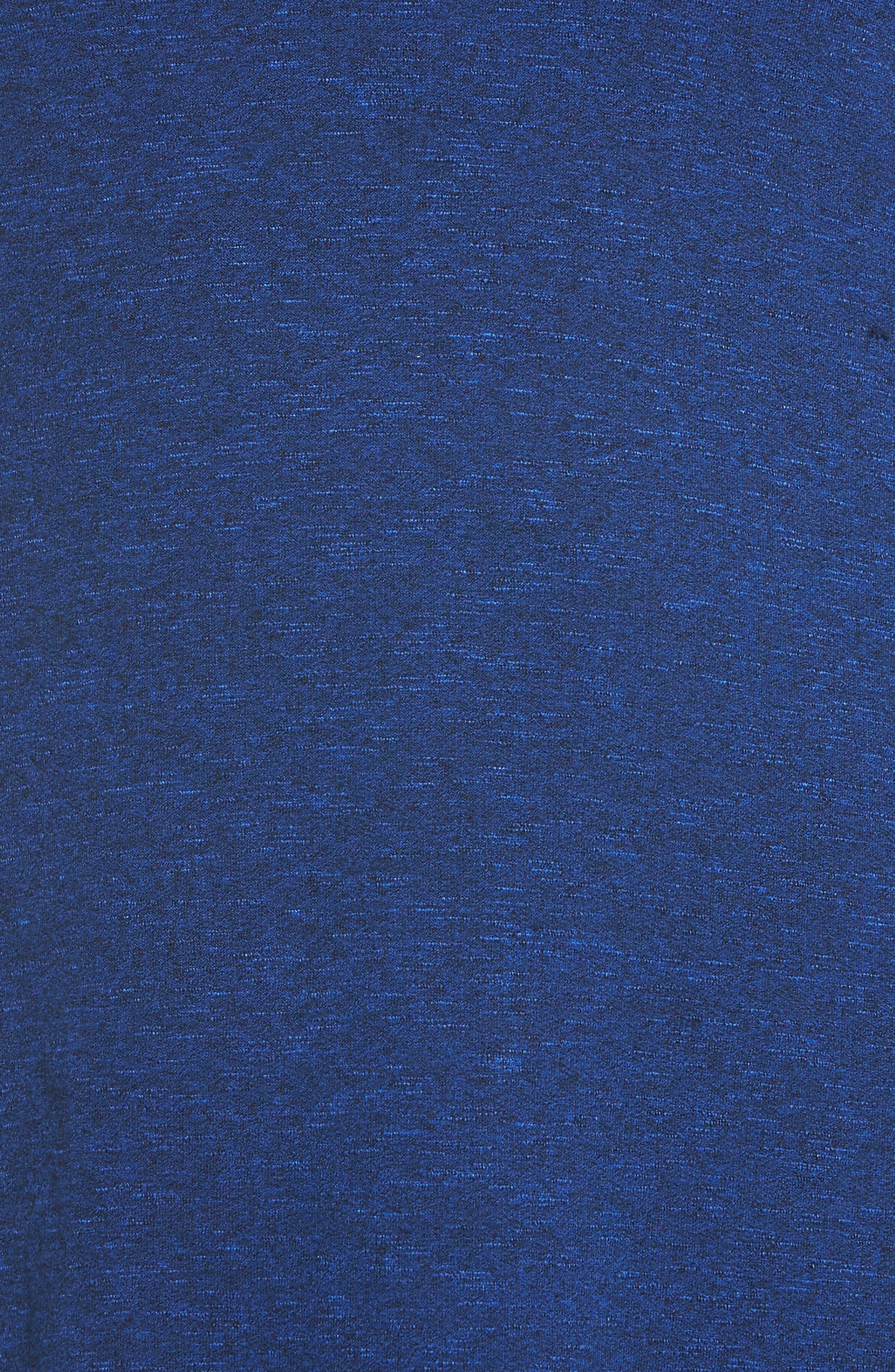 Knot Strap Knit Swing Dress,                             Alternate thumbnail 6, color,                             Cobalt Blue Slub Terry