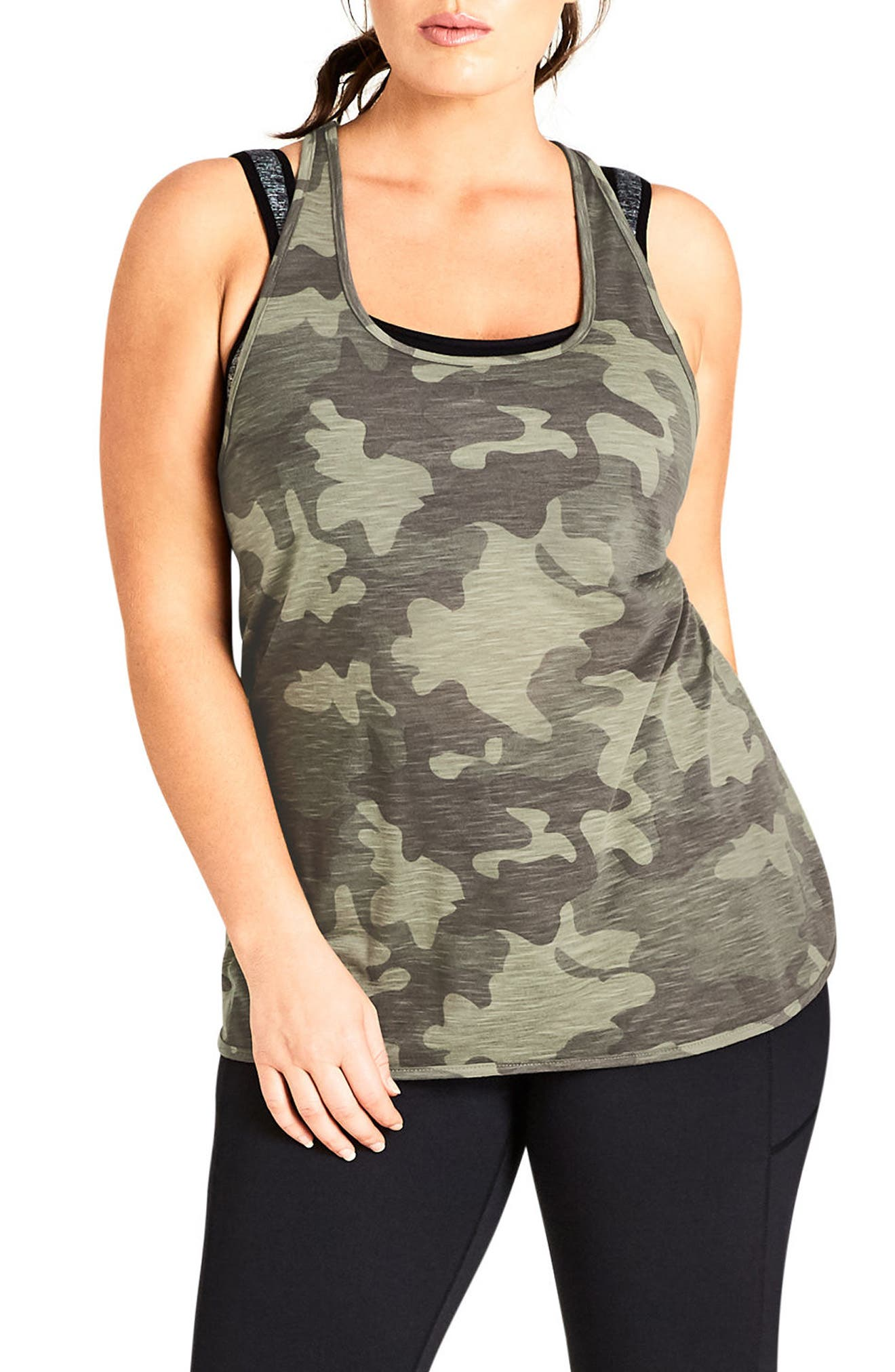 Camo Tank,                         Main,                         color, Khaki