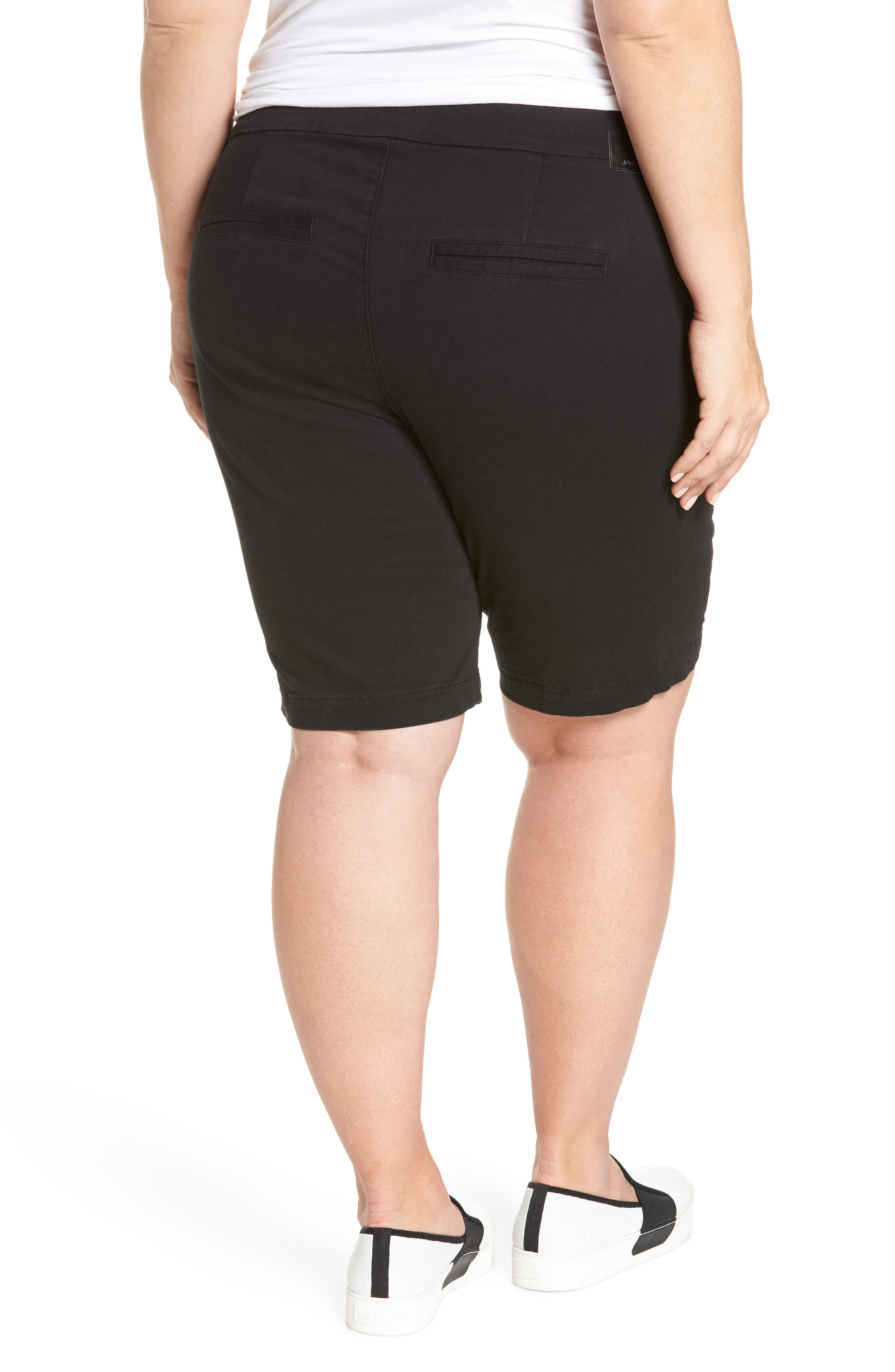 Ainsley Pull-On Bermuda Shorts,                             Alternate thumbnail 2, color,                             Black