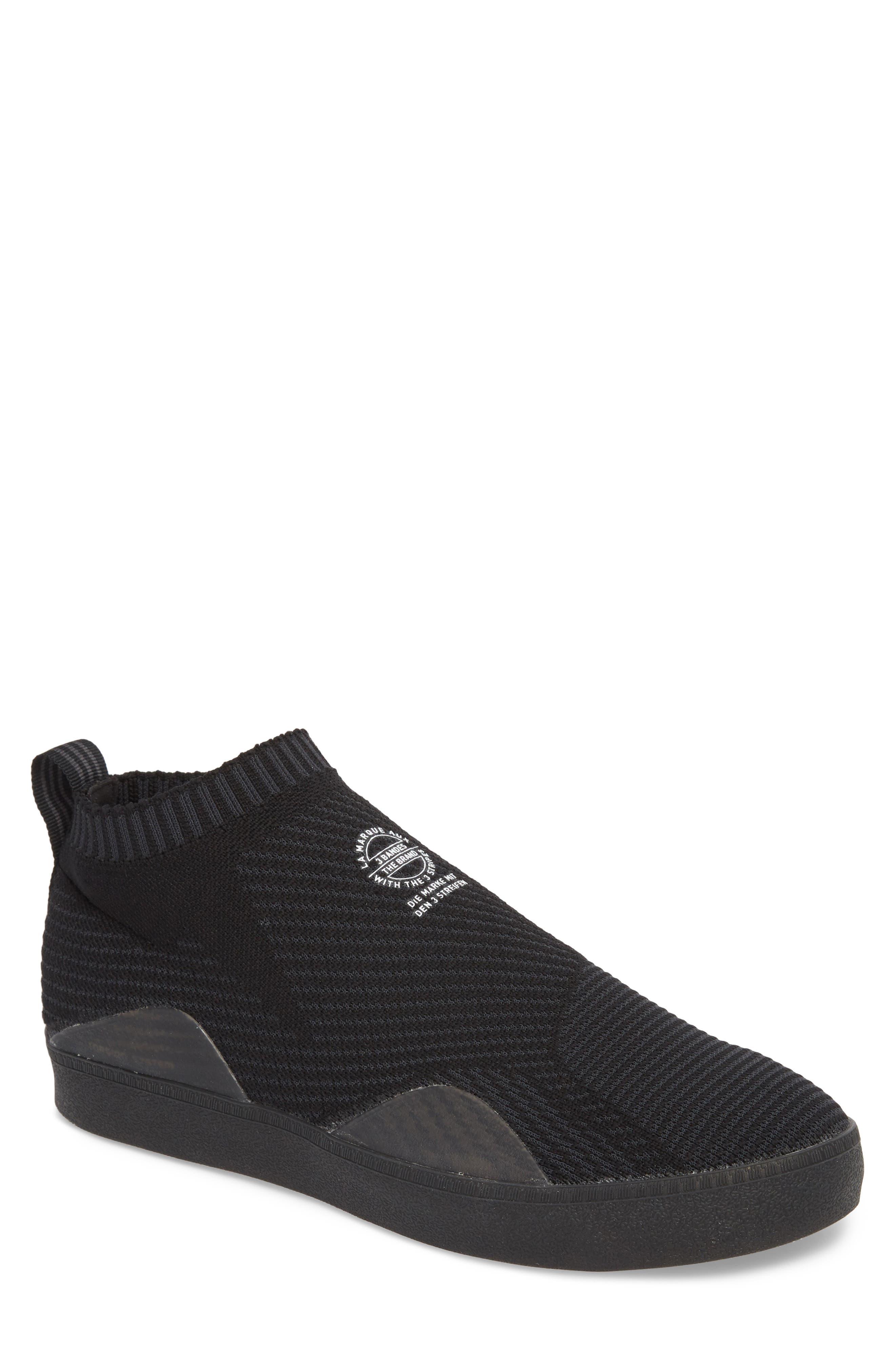 adidas originali primeknit skateboard scarpa, cuore nero