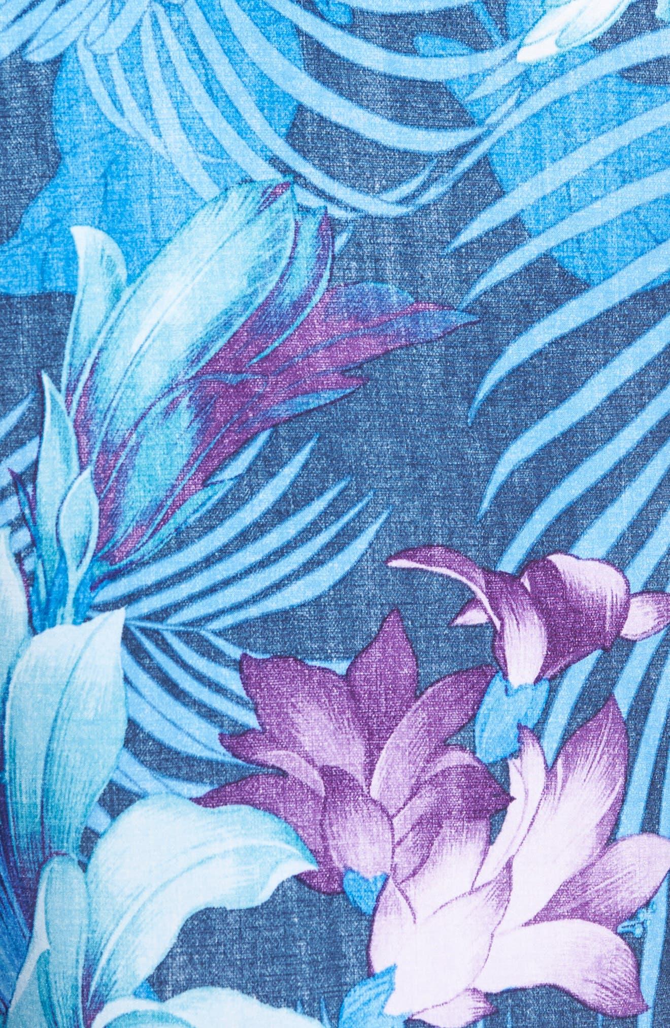 Cayman Laredo Blooms Board Shorts,                             Alternate thumbnail 5, color,                             Ocean Deep