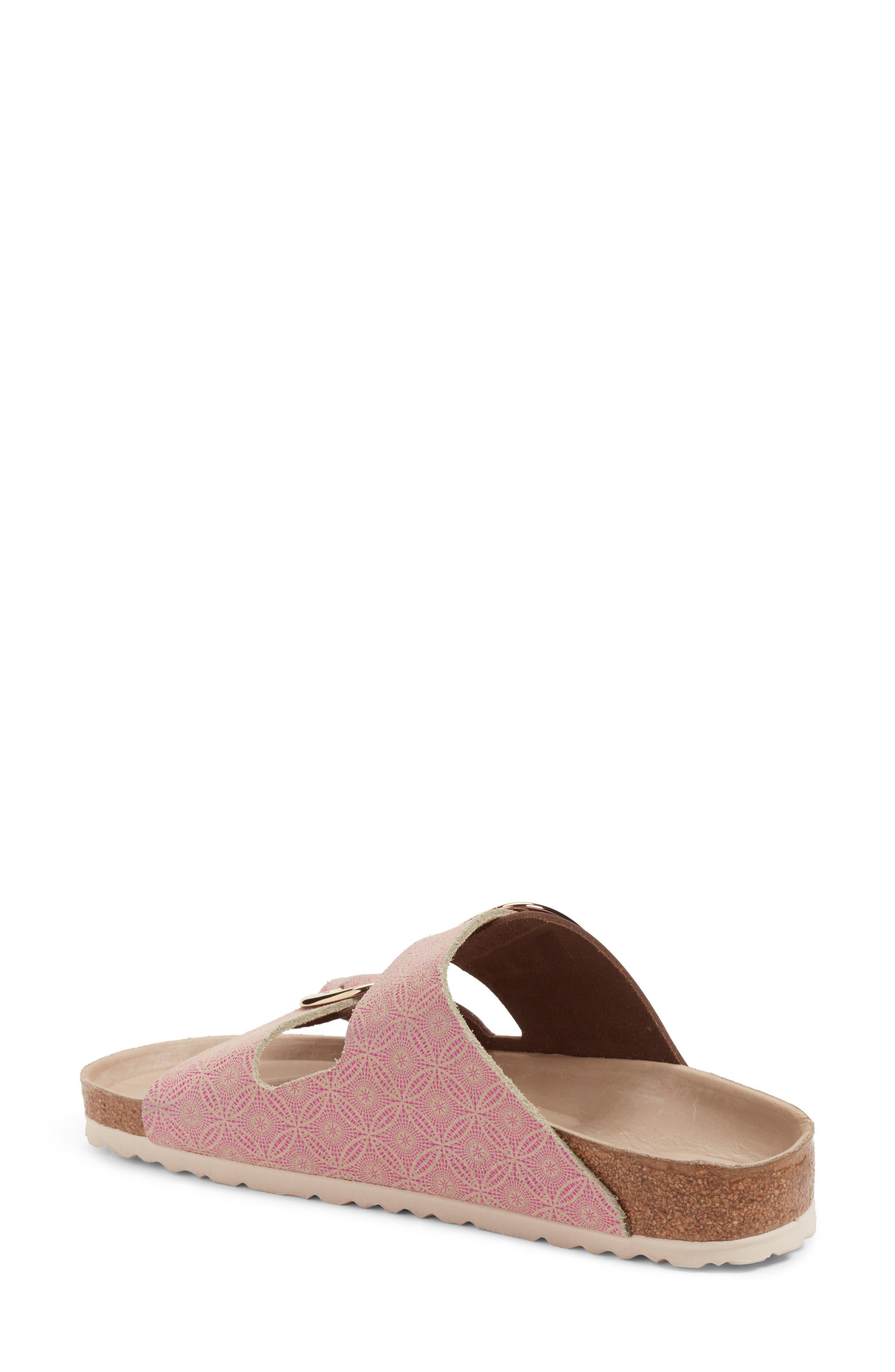 Arizona Big Buckle Slide Sandal,                             Alternate thumbnail 2, color,                             Ceramic Rose Leather