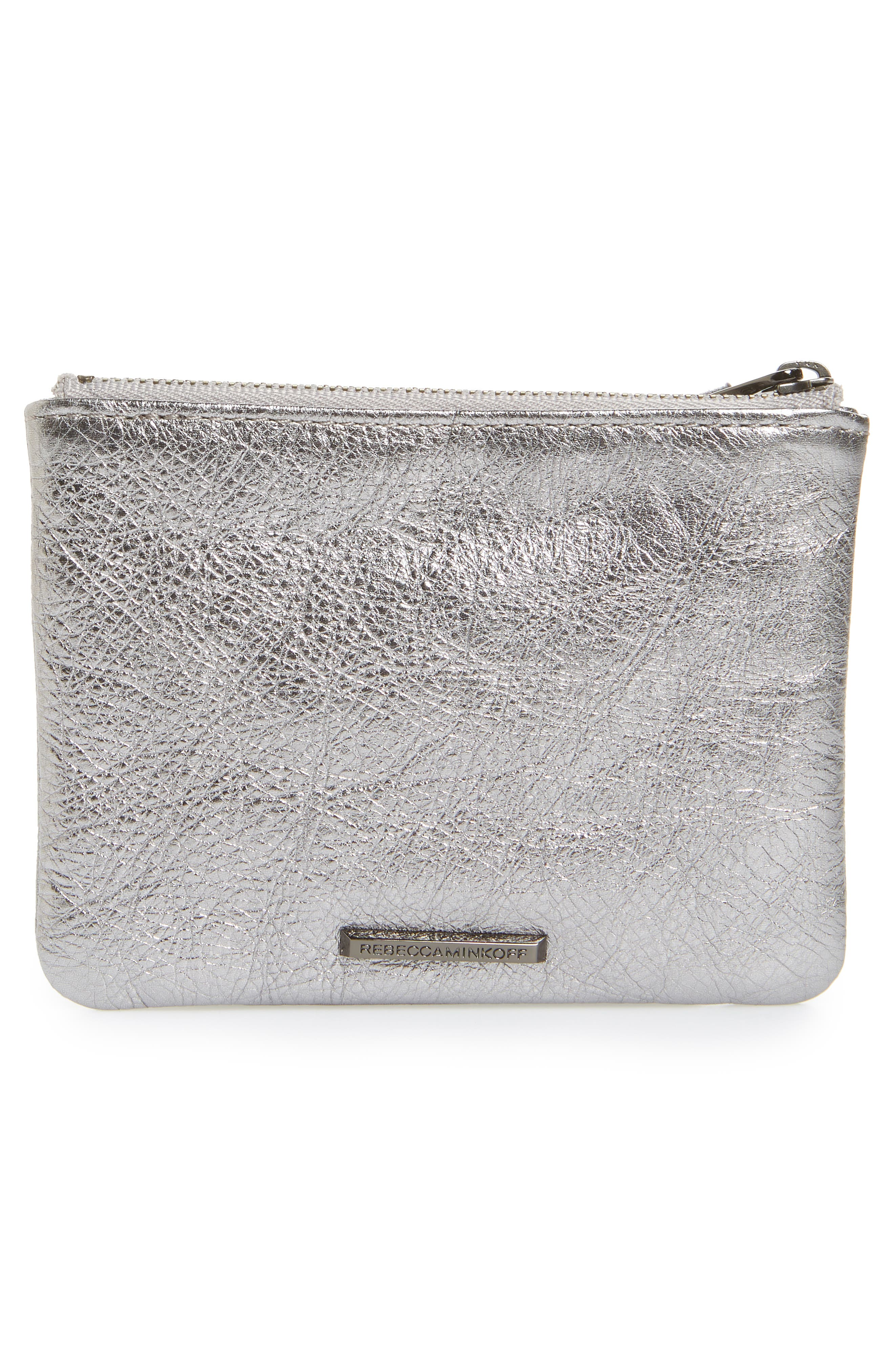 Betty - Best Mom Ever Leather Pouch,                             Alternate thumbnail 3, color,                             Anthracite