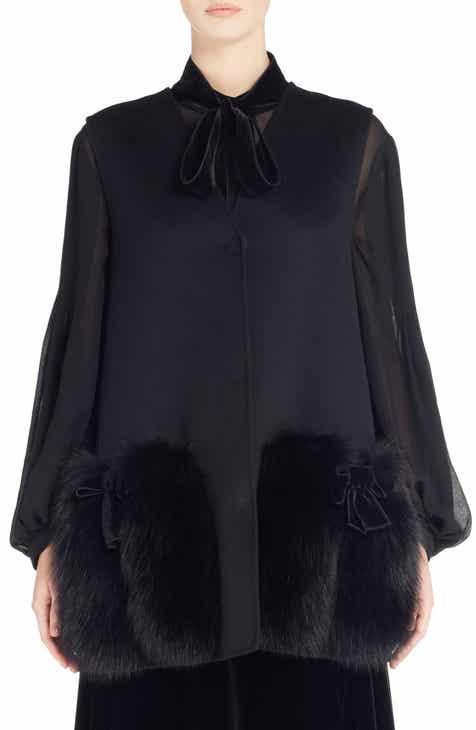 902c3f5a05 Fendi Wool Vest with Genuine Fox Fur Trim