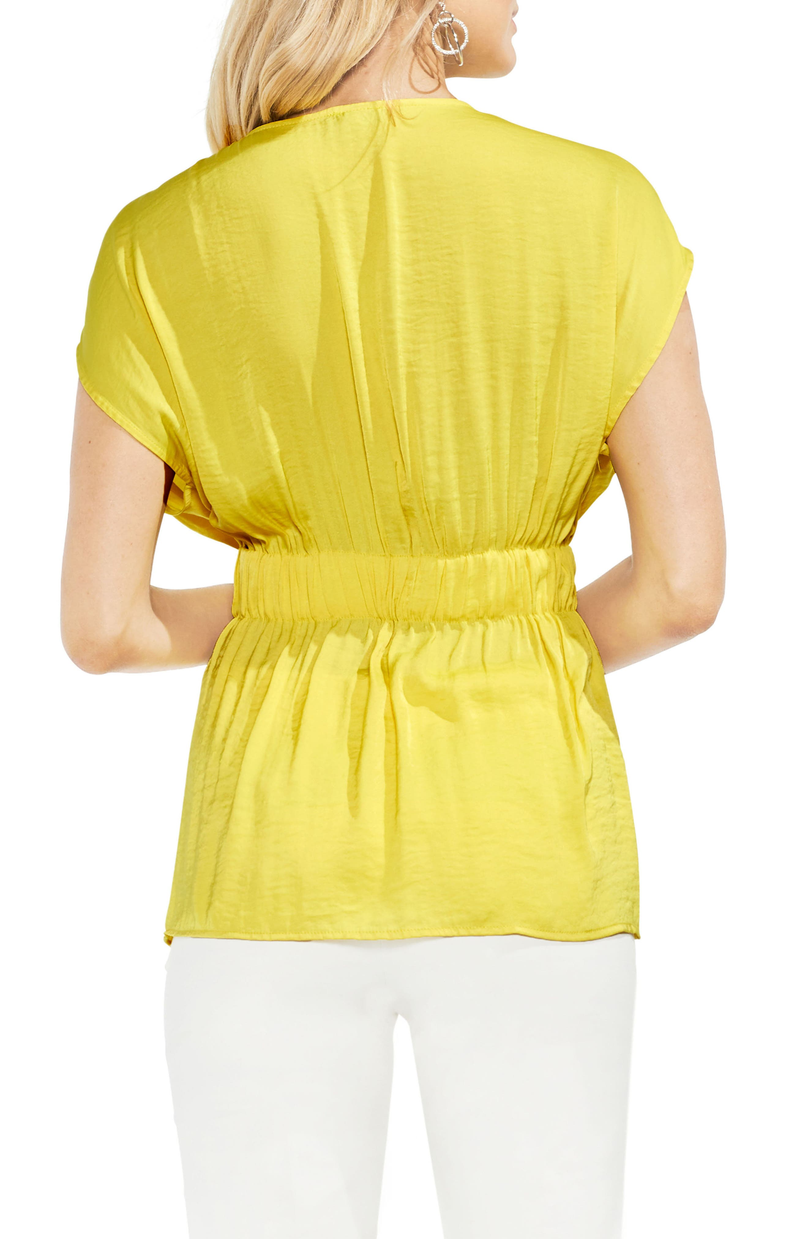 Cinched Waist Top,                             Alternate thumbnail 2, color,                             Pineapple