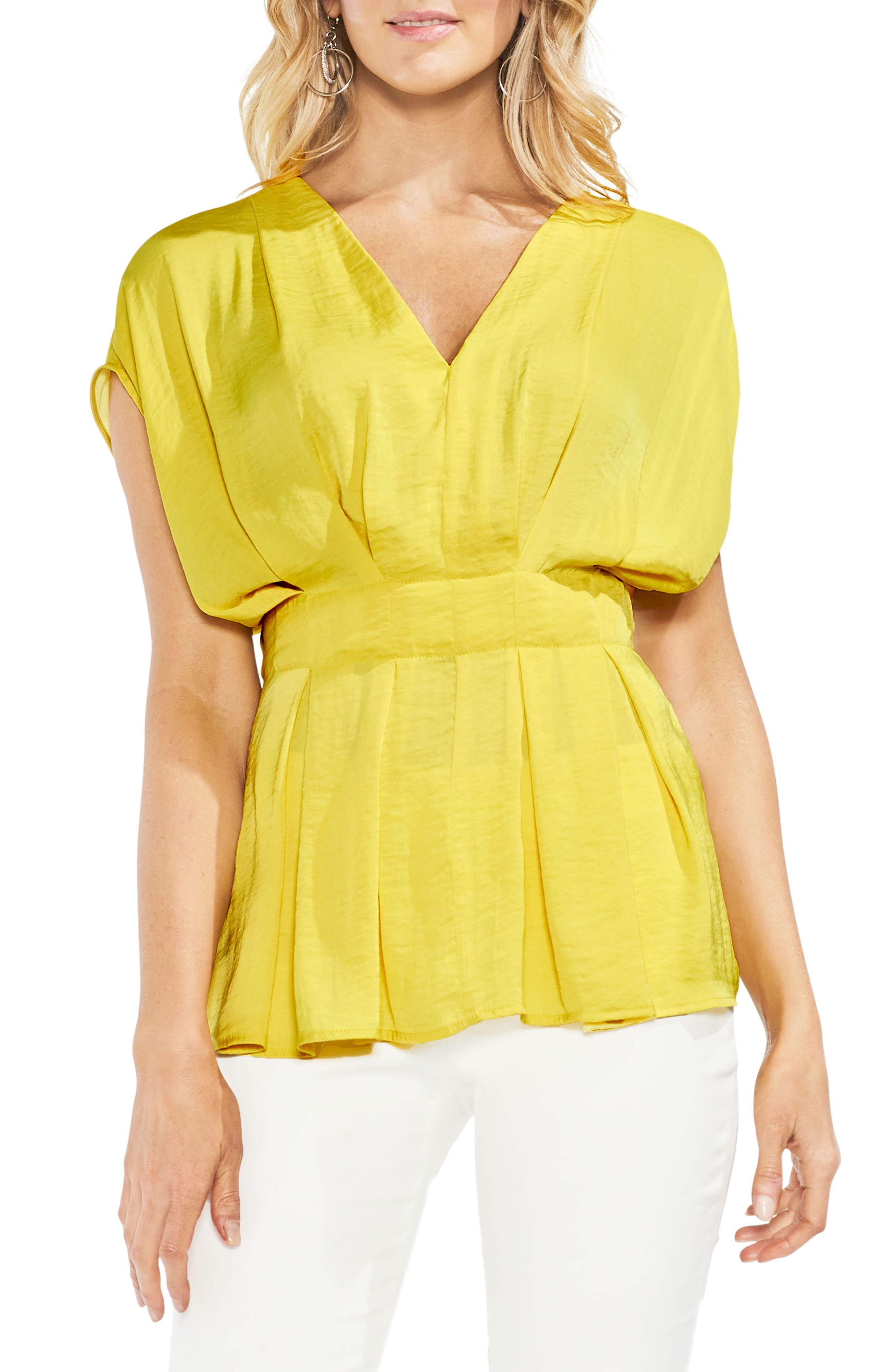 Cinched Waist Top,                             Main thumbnail 1, color,                             Pineapple