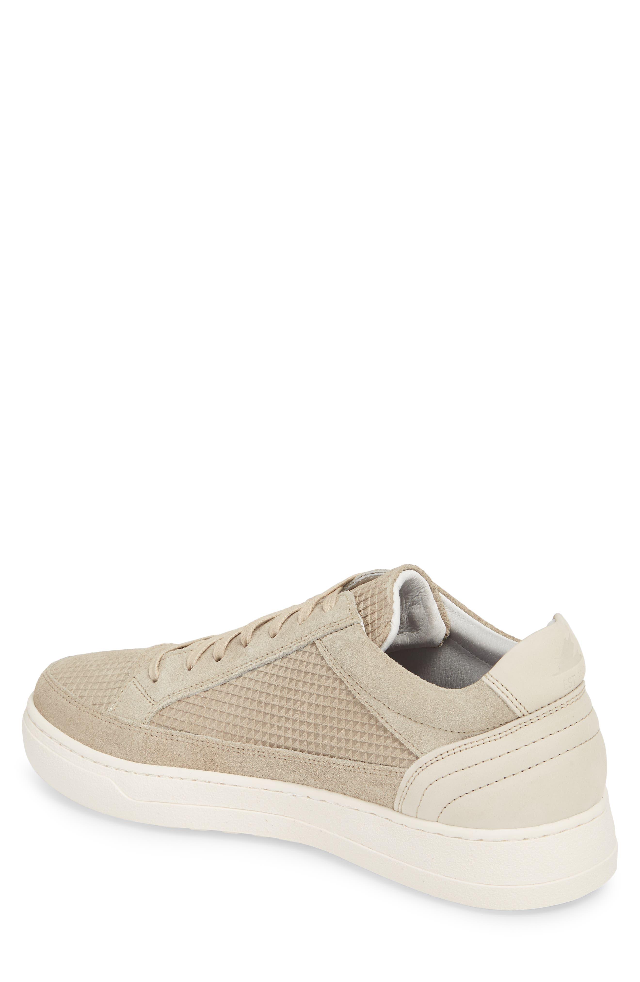 Reid Embossed Water Resistant Sneaker,                             Alternate thumbnail 2, color,                             Sand