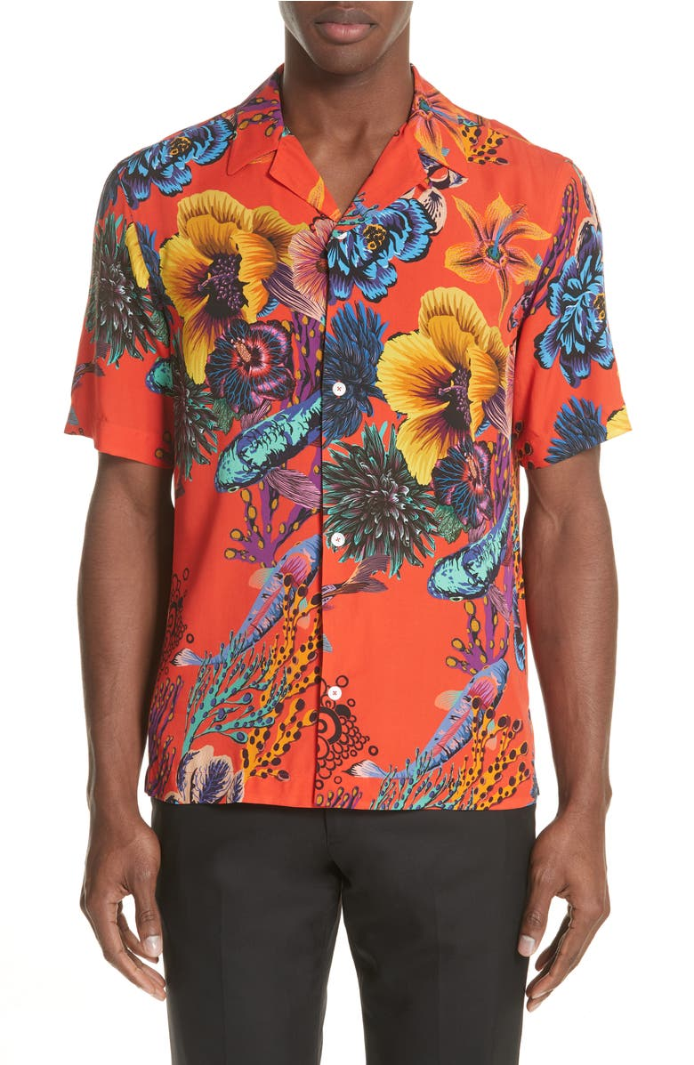 Paul Smith Fishes Print Shirt | Nordstrom