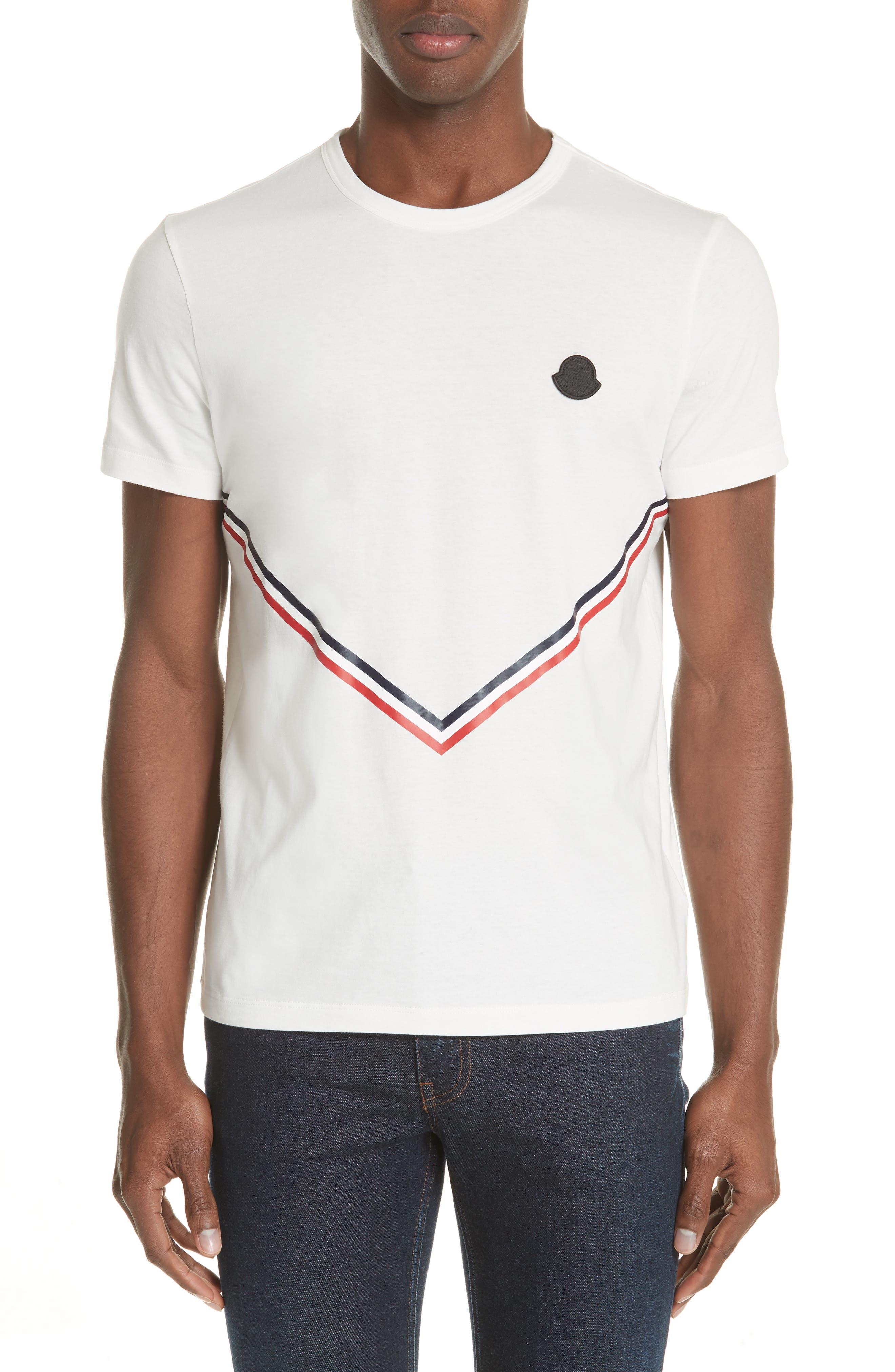 Moncler Chevron Stripe Print T-Shirt