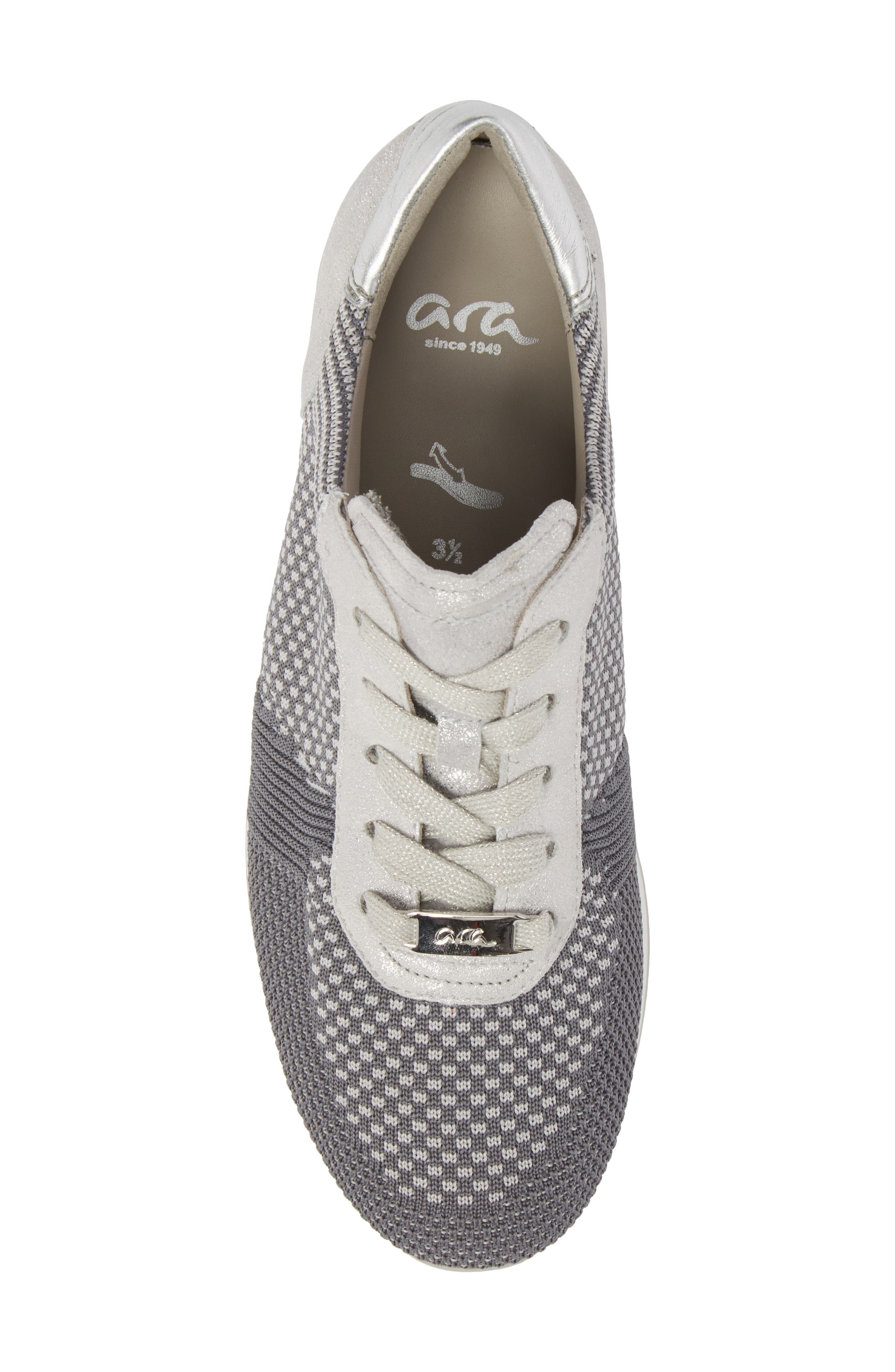 Lilly Sneaker,                             Alternate thumbnail 5, color,                             Grey Fabric