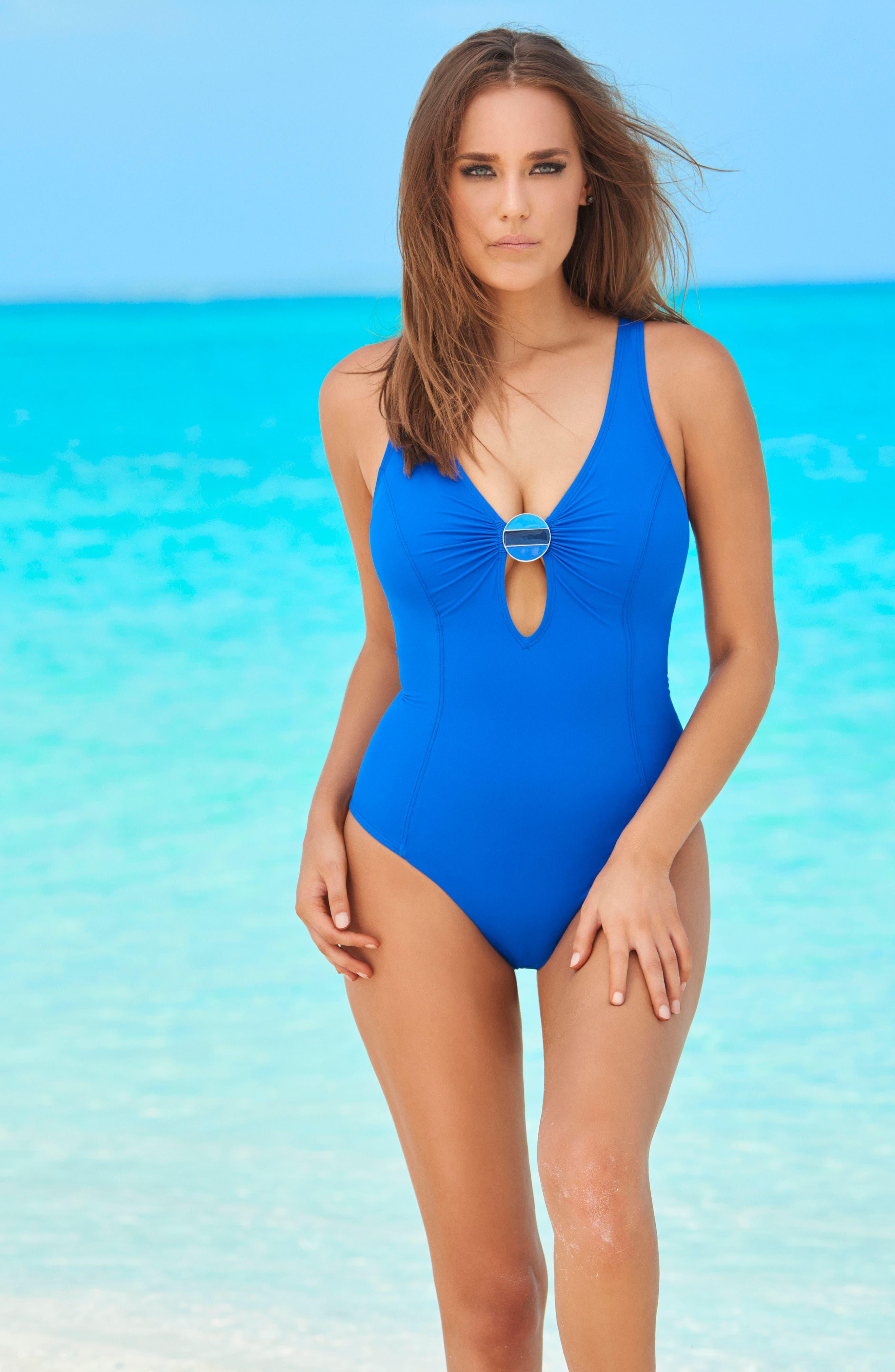 Crete Electra One-Piece Swimsuit,                             Alternate thumbnail 3, color,