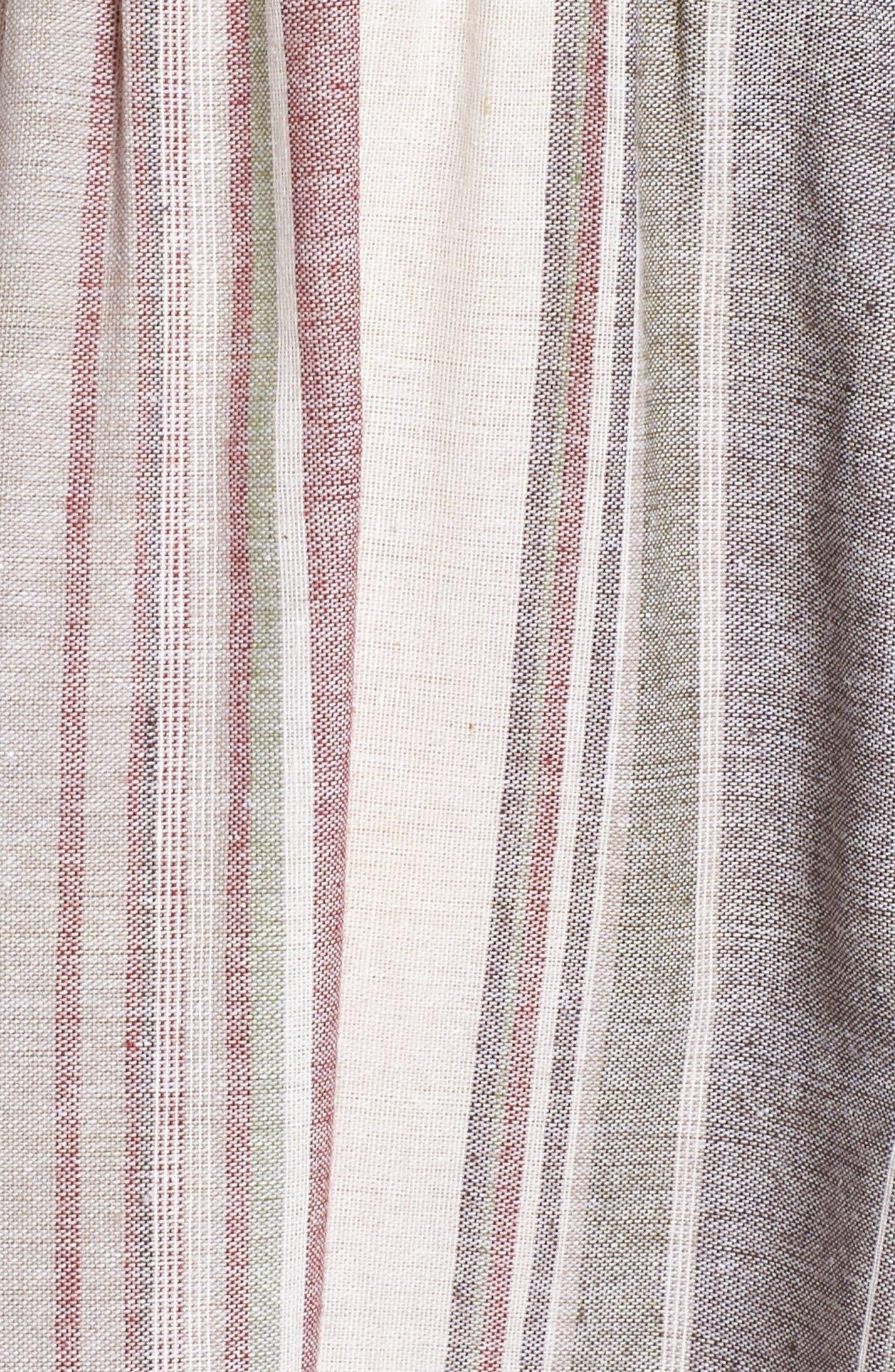Stripe Maxi Dress,                             Alternate thumbnail 6, color,                             Cream