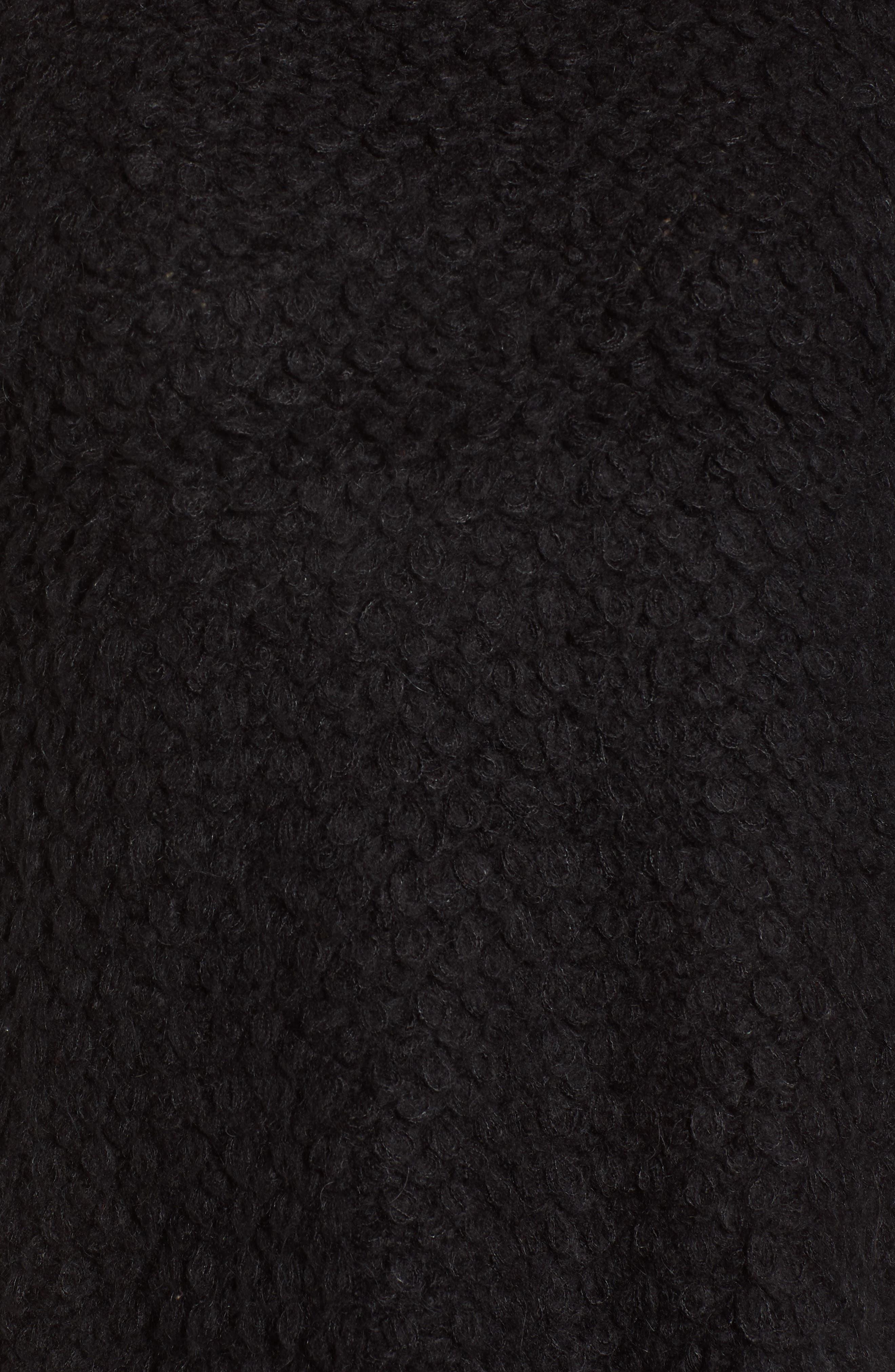 Loop Stitch Crewneck Sweater,                             Alternate thumbnail 5, color,                             Black