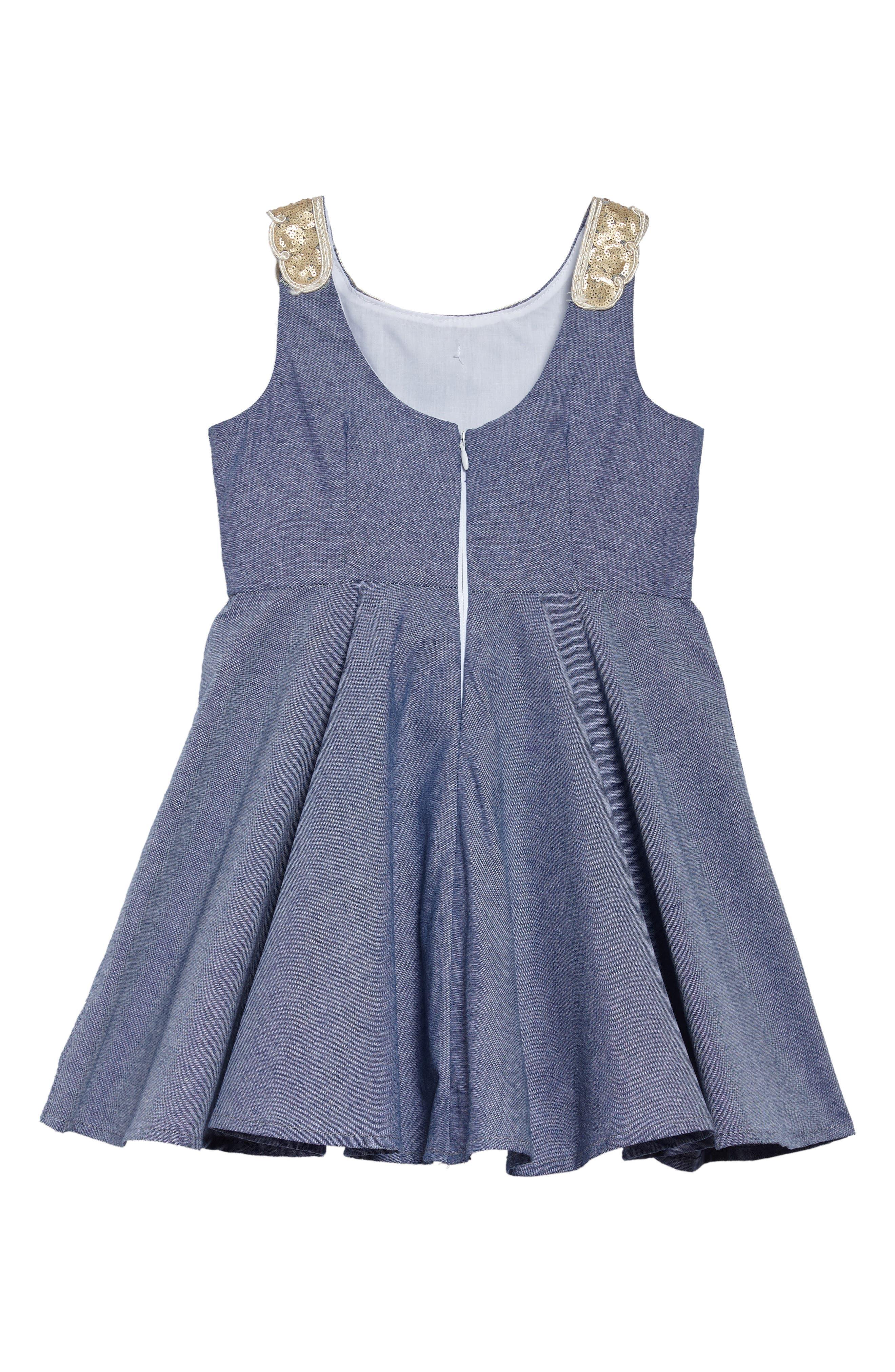 Alternate Image 2  - Fiveloaves Twofish Darcy Chambray Dress (Toddler Girls, Little Girls & Big Girls)