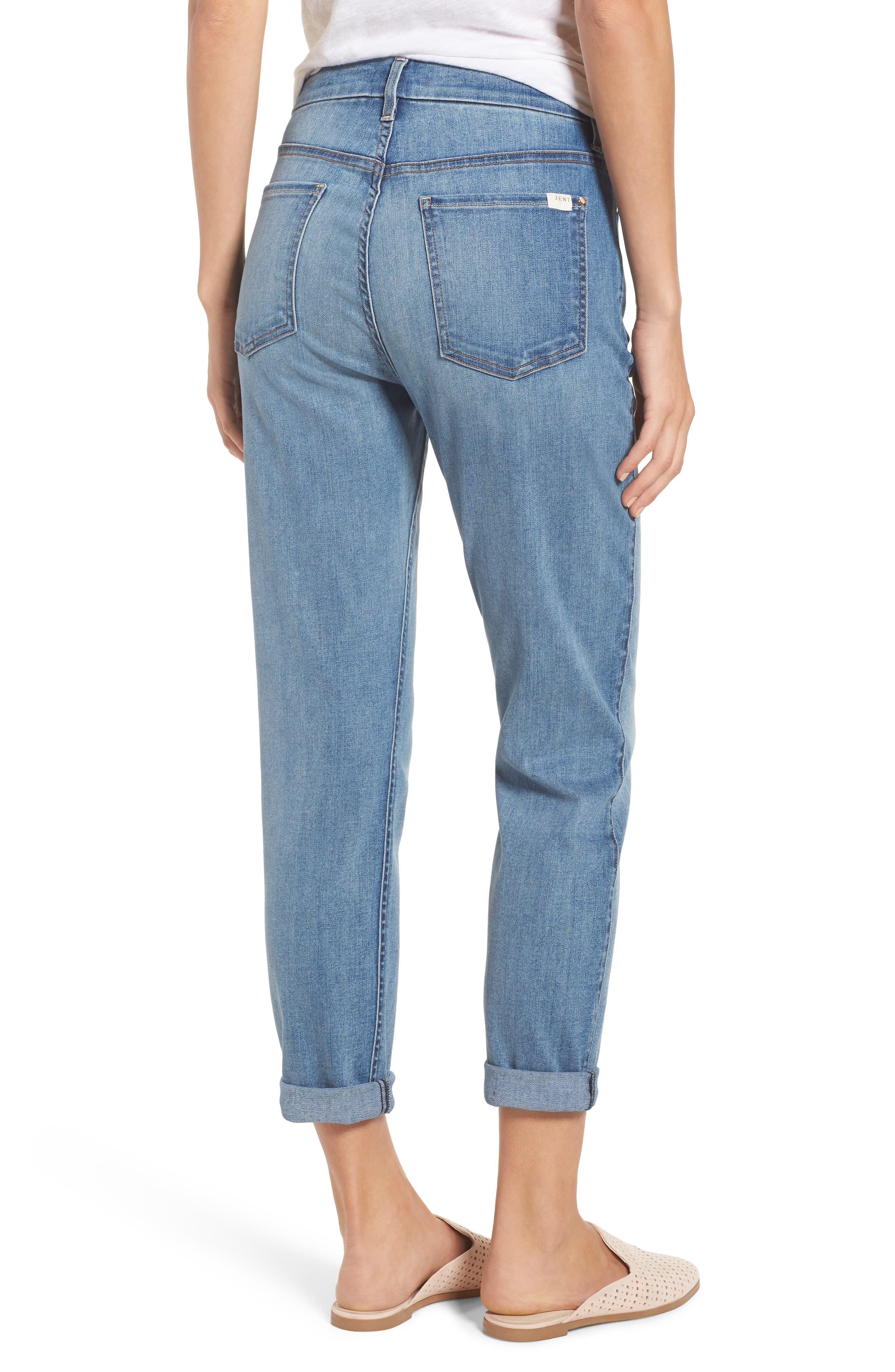 Slim Boyfriend Jeans,                             Alternate thumbnail 2, color,                             Sunlight