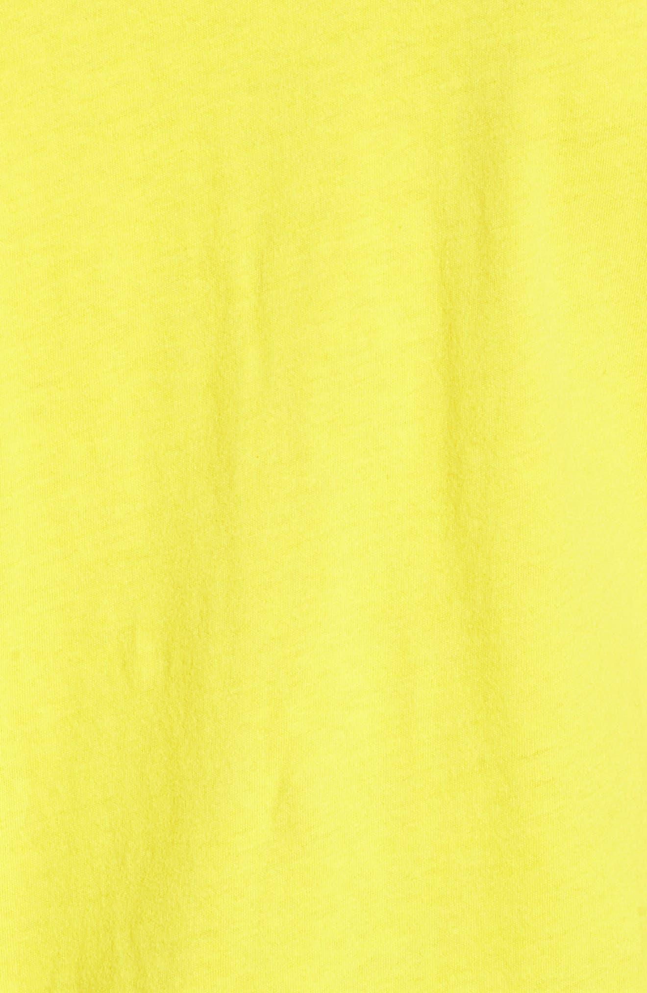 Pintuck Sleeve Cotton Blouse,                             Alternate thumbnail 6, color,                             Vivid Canary