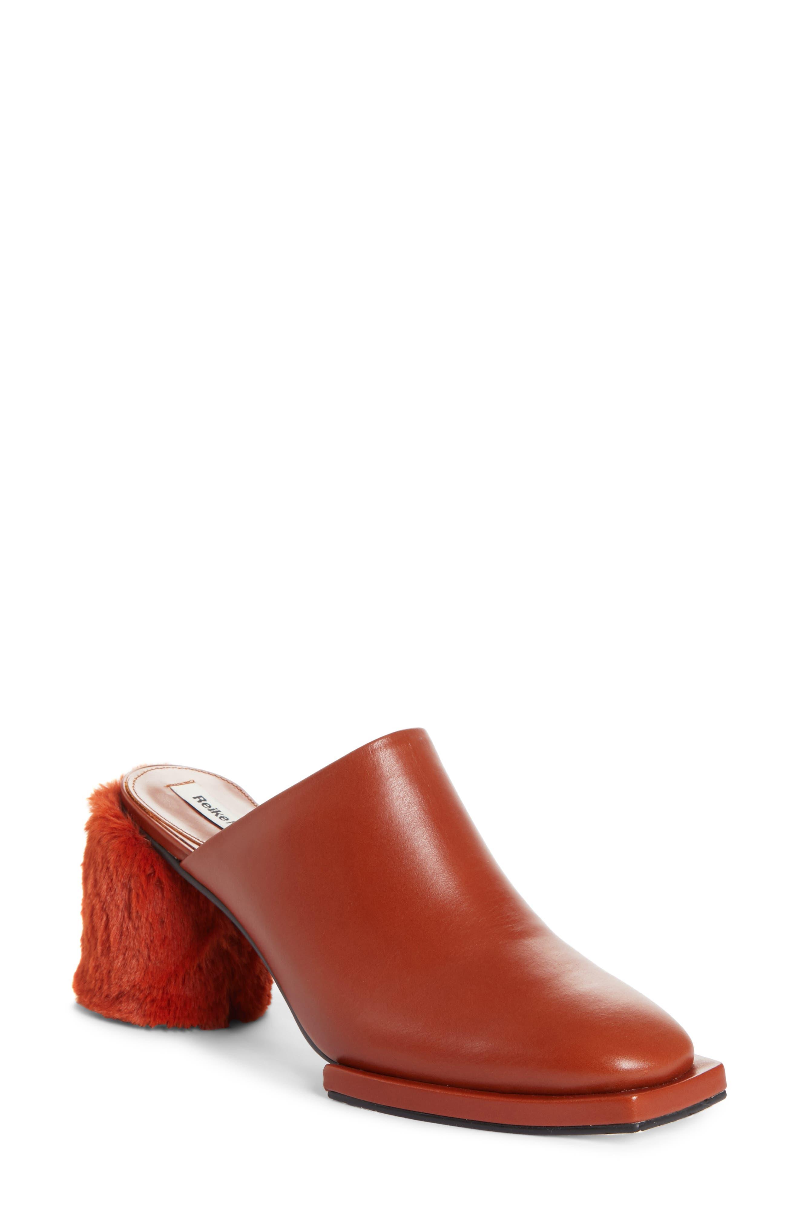 Reike Nen Faux Fur Block Heel Mule (Women)