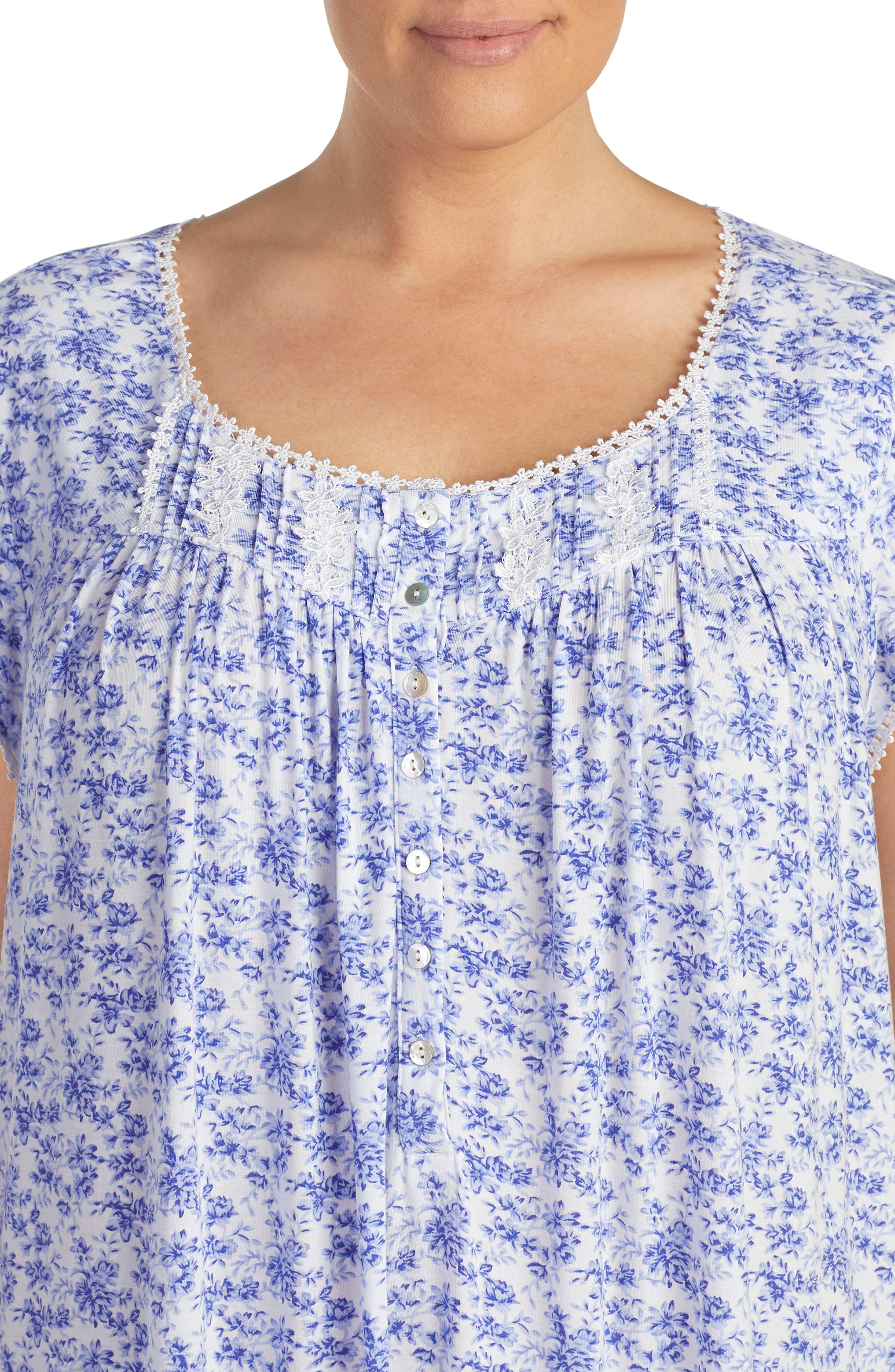 Print Nightgown,                             Alternate thumbnail 3, color,                             Lilac